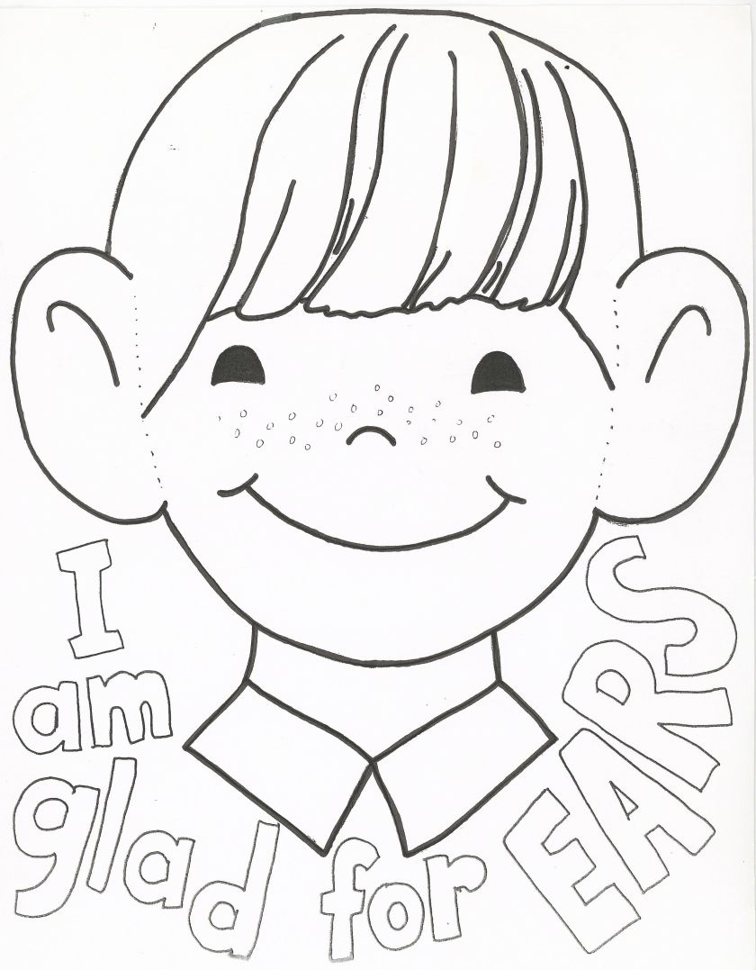 i am thankful for my ears coloring page …  pinteres…