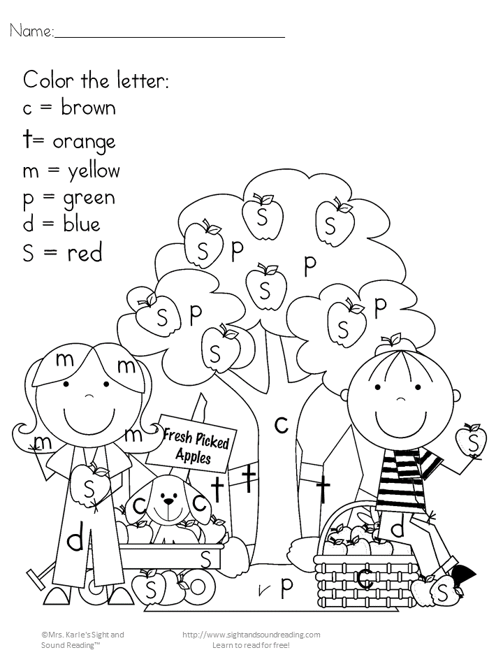 printable fall coloring pages  colorletter/sight word