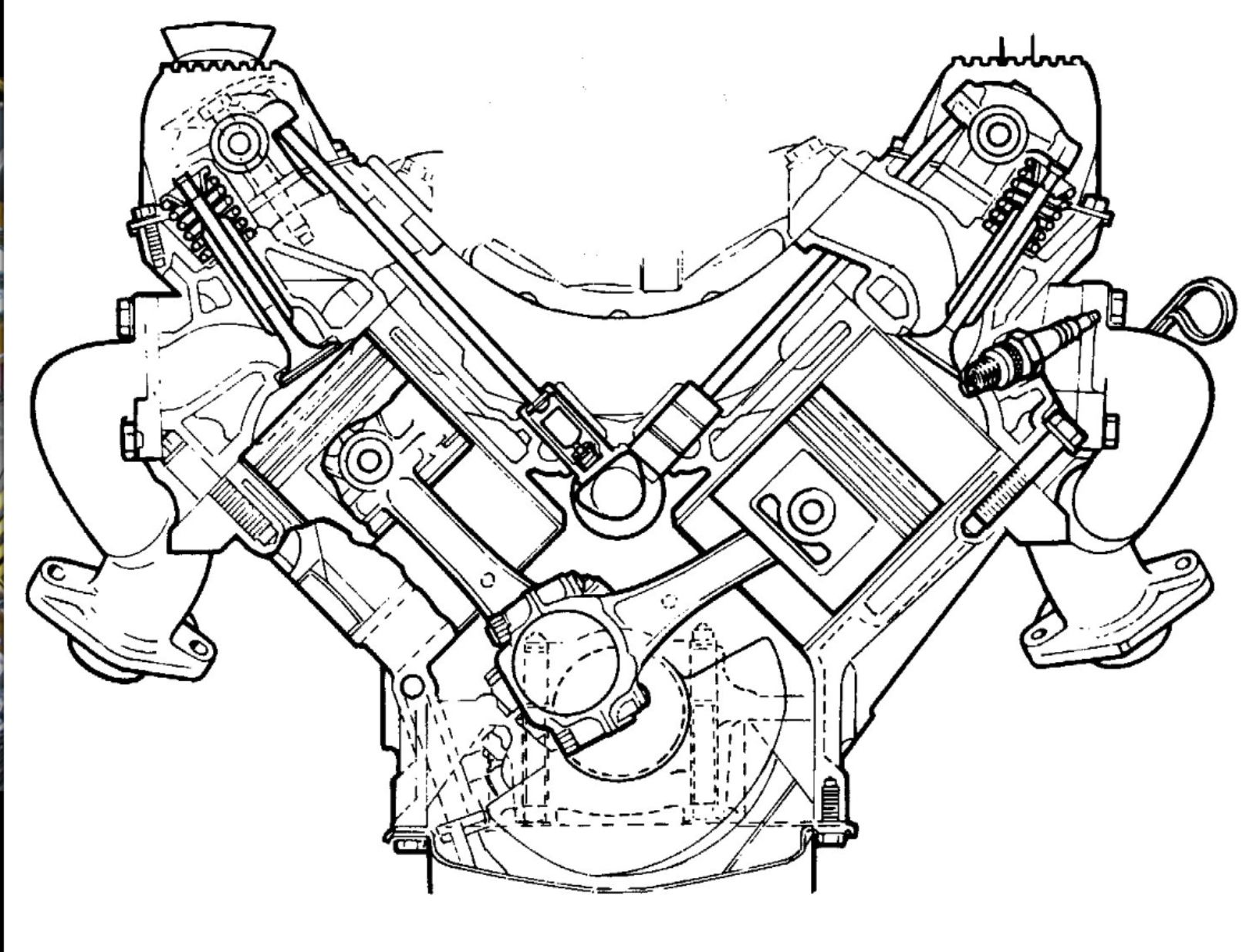 A Sectional View Of The Rover V8 Engine A Masterpiece Of