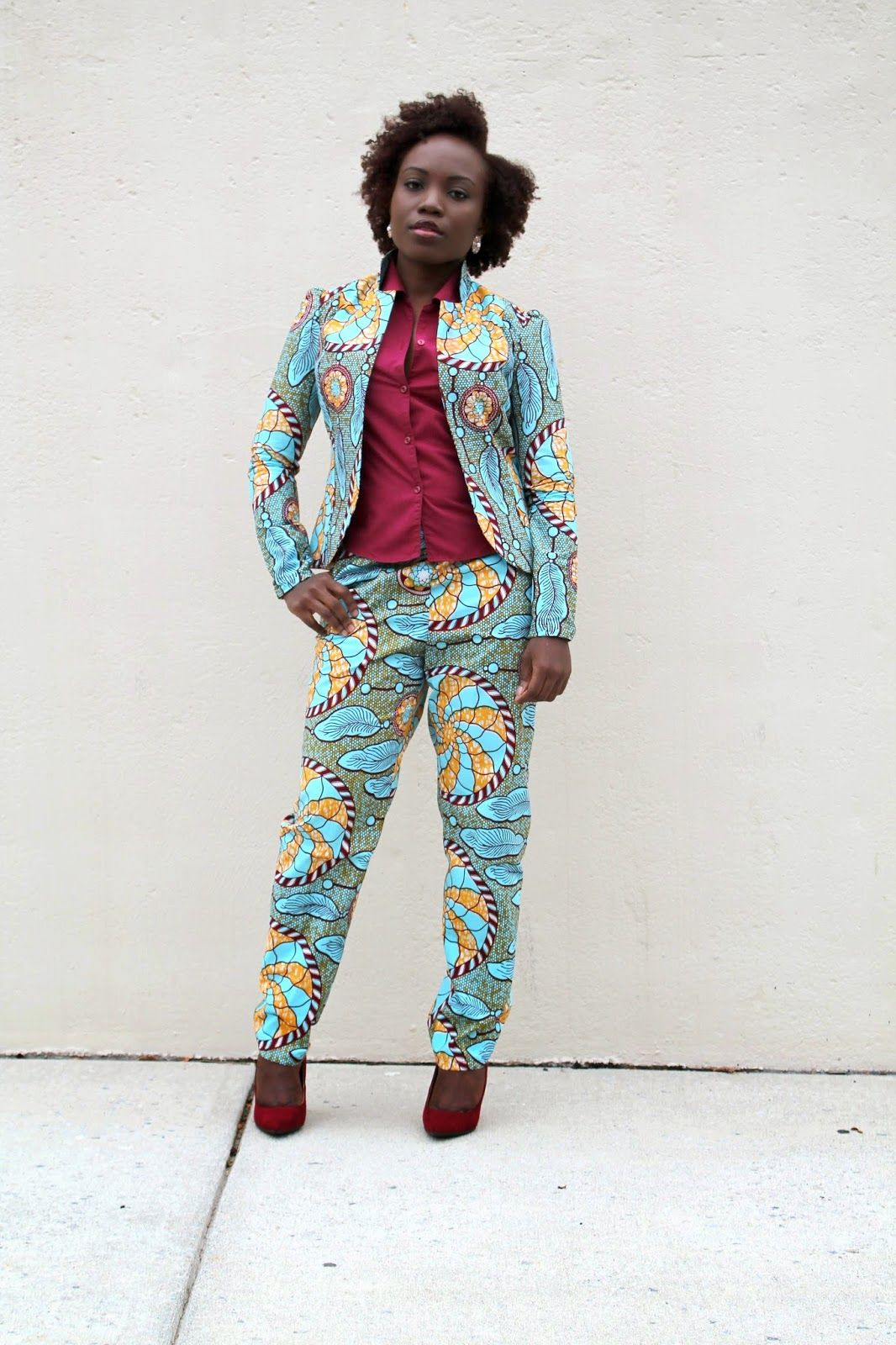 McCall's Pattern Ankara Suit / Jacket / Blazer / Pants