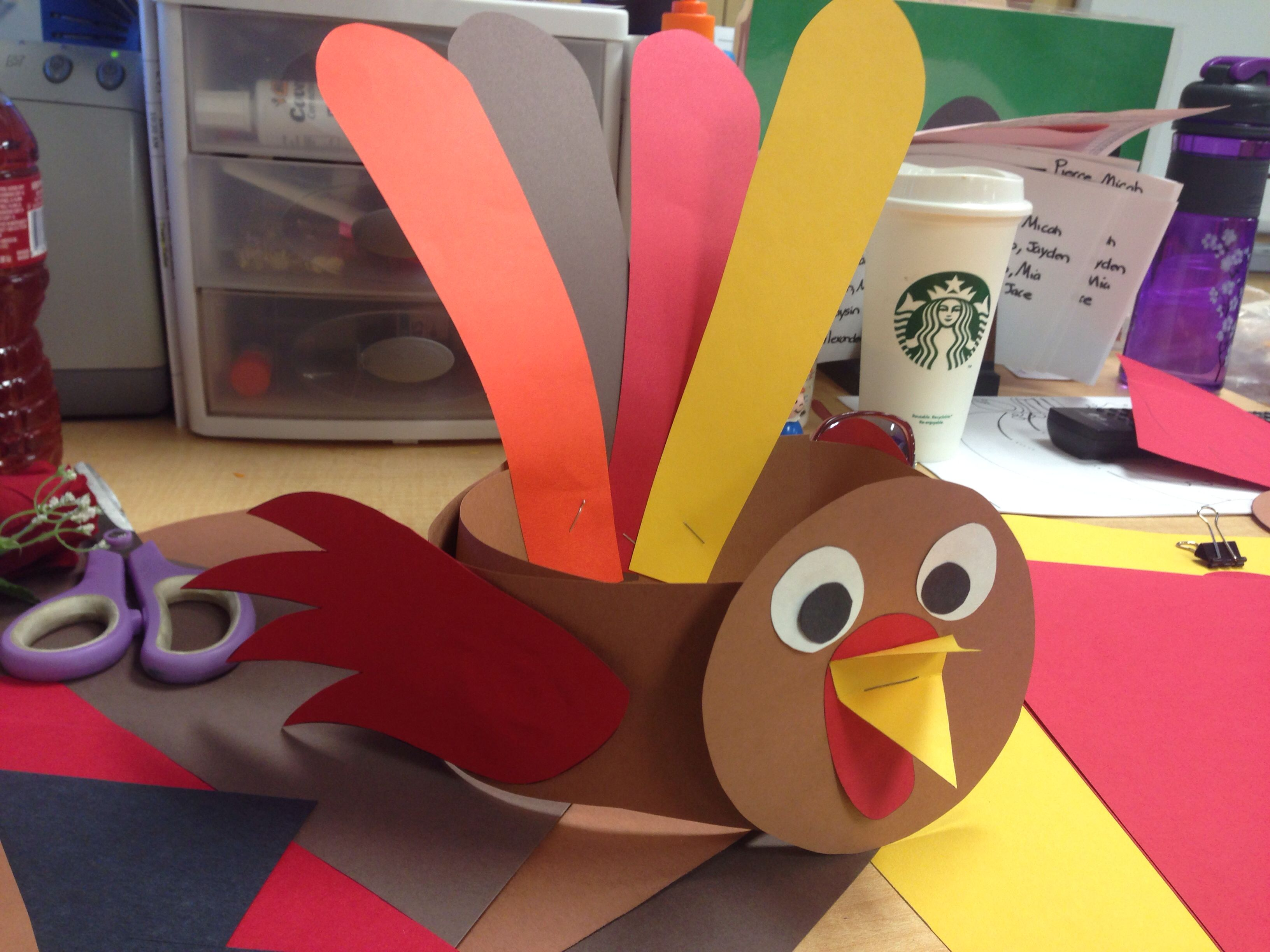 Thanksgiving Turkey Hat For Preschool Or Kinder Easy Craft Perfect For Taking Pictures To Send