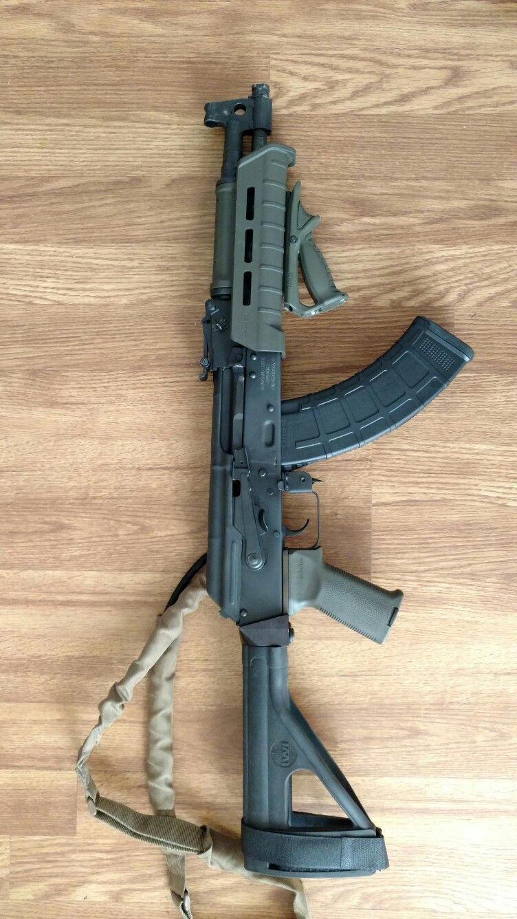 Draco pistol before the refinished handguards the