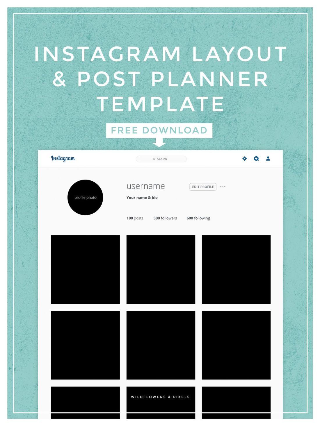 Instagram layout post planner template planner