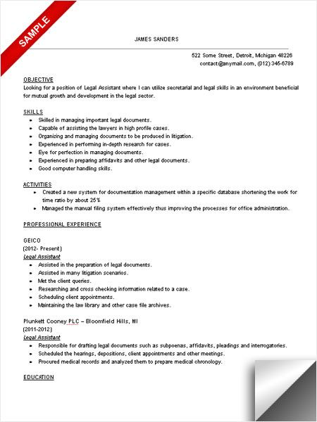 sample paralegal resumes imeth co