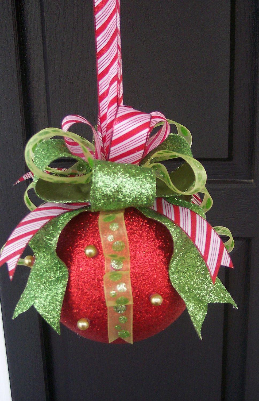 christmas ornament idea using styrofoam balls! these would