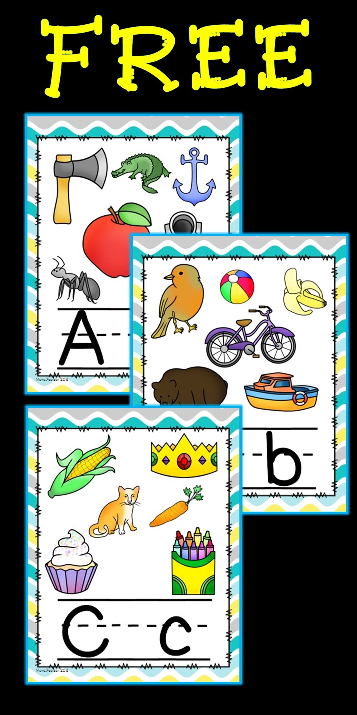 Free Full Set Of Alphabet Posters With Upper And Lower