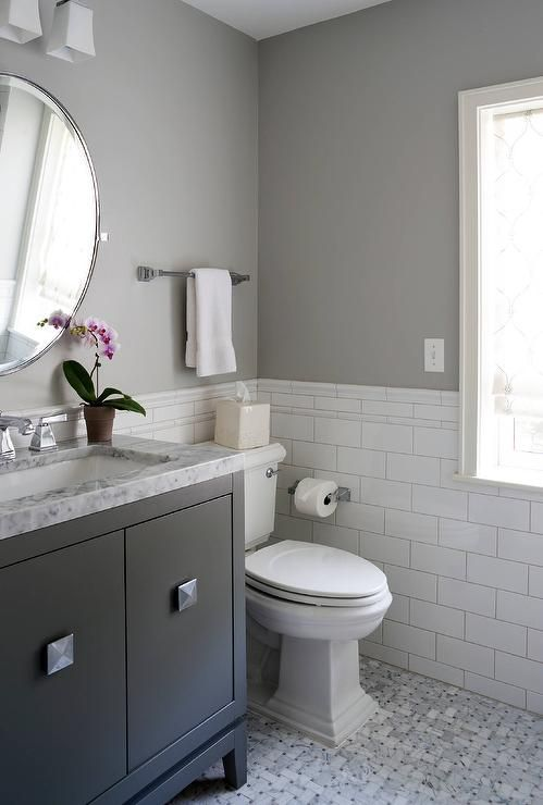 Charming White And Gray Bathroom Bathrooms Pinterest