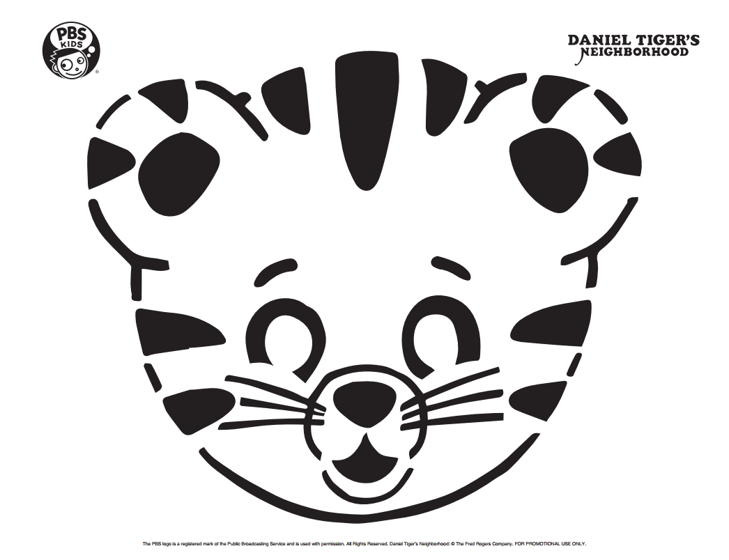 Daniel Tiger Pumpkin Carving Template Happy Halloween