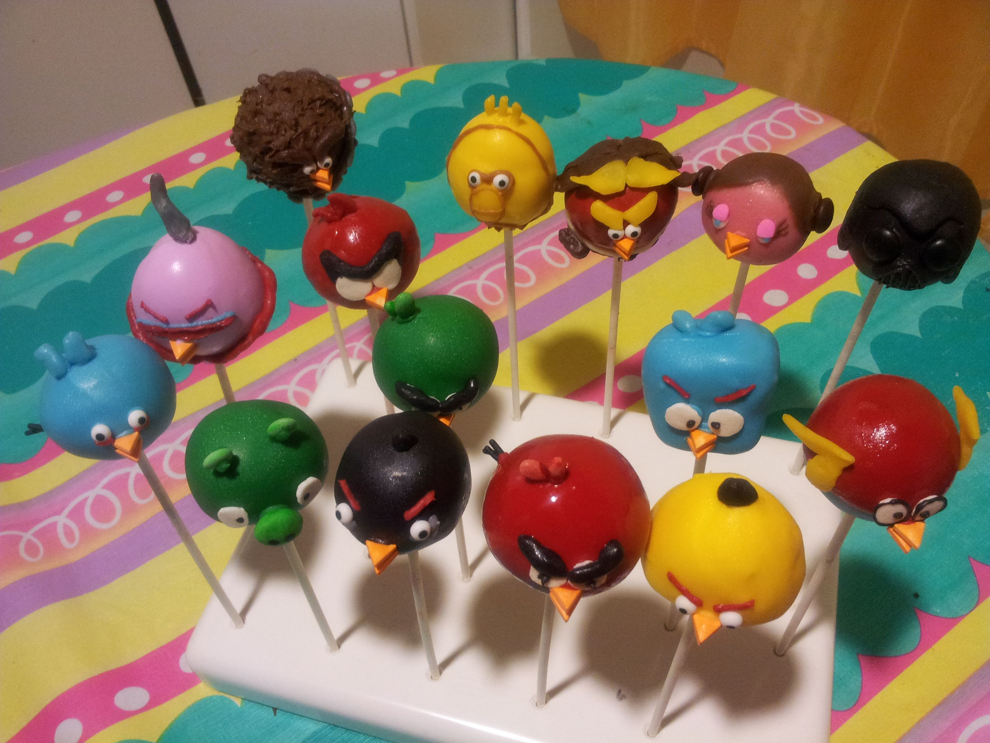 Angry Birds Cake Pops Angry Birds Space Cake Pops Angry