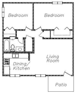 2 Bedroom Cottage Floor Plans You Would Like To See A Larger