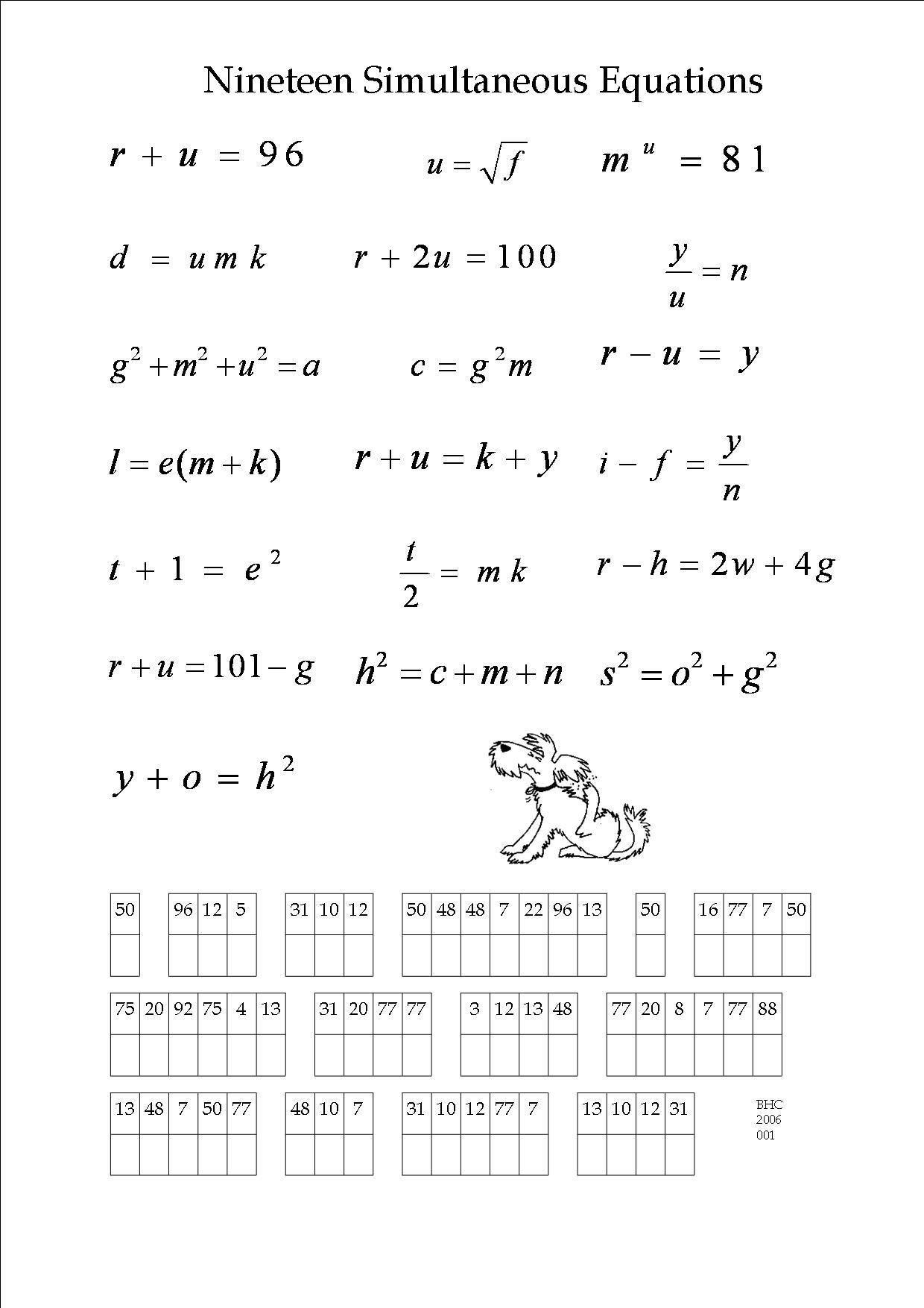 An Algebra Puzzle