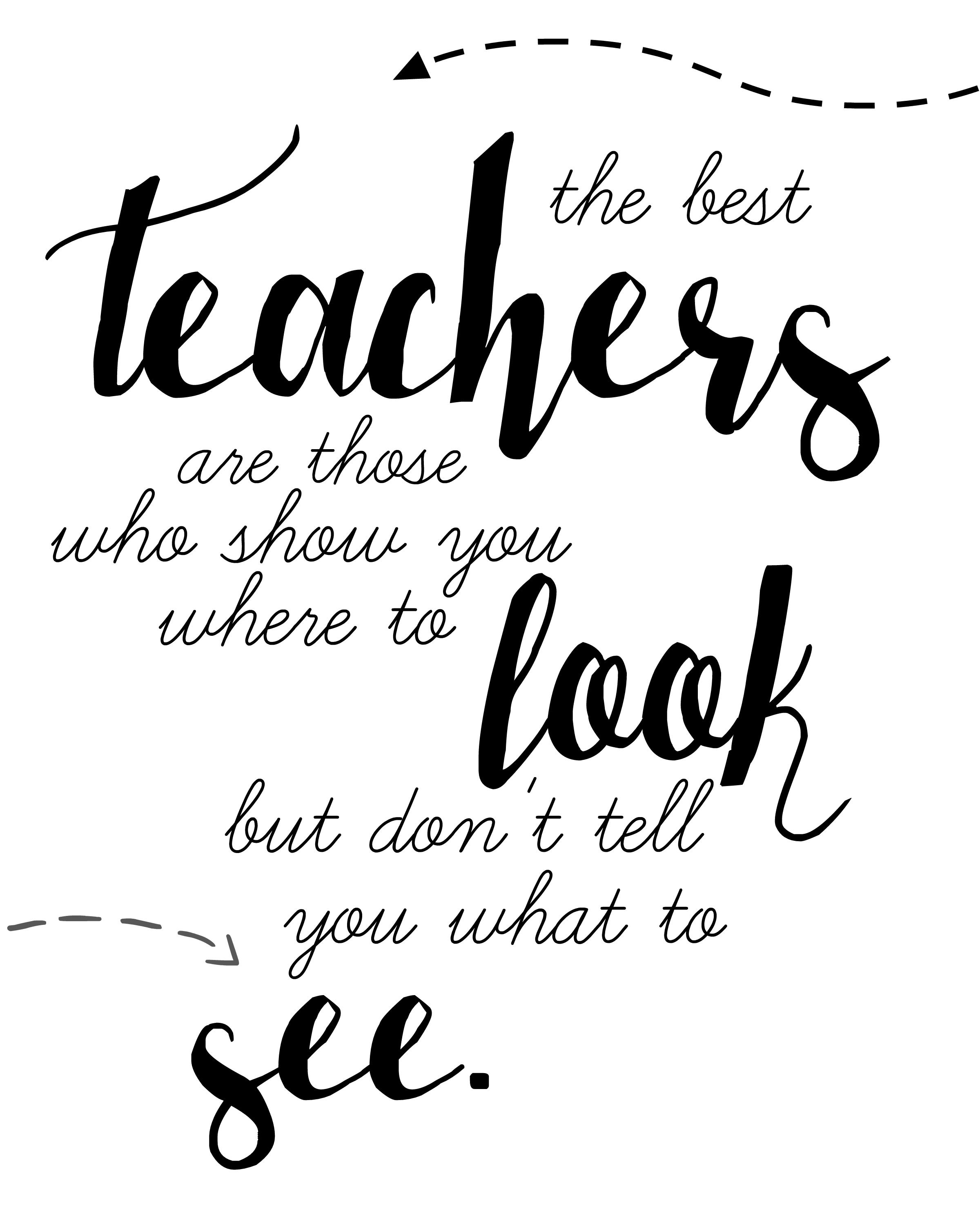 Teacher Quote Free Printable