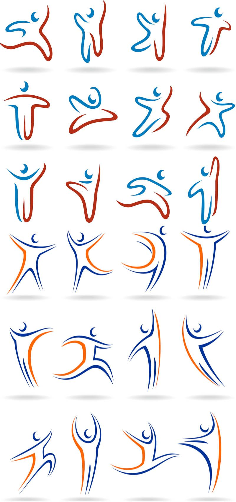 Linear human logos vector Design Pinterest More