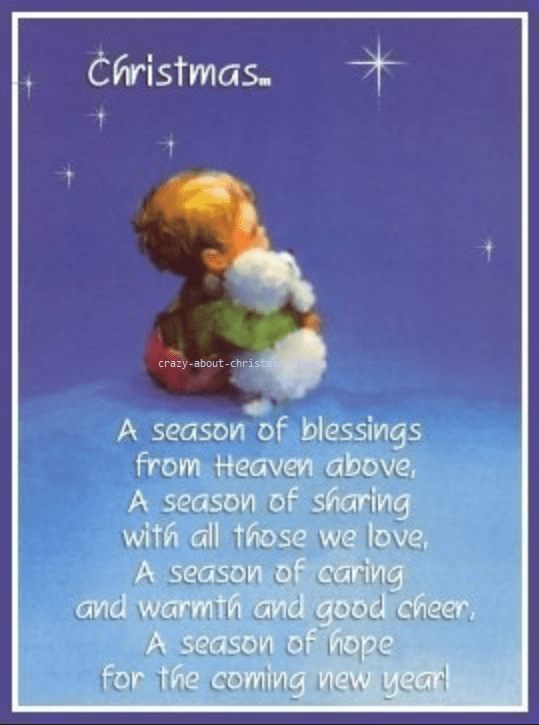 Christmas. A season of blessing from Heaven above