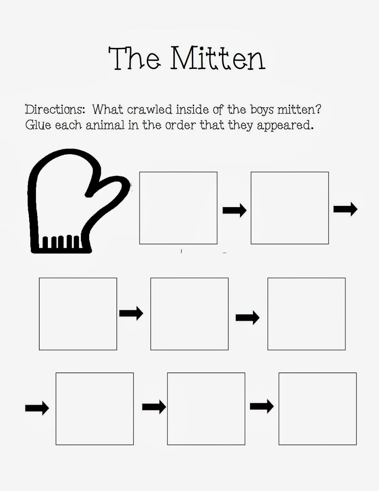 The Autism Adventures Of Room 83 The Mitten By Jan Brett Activities