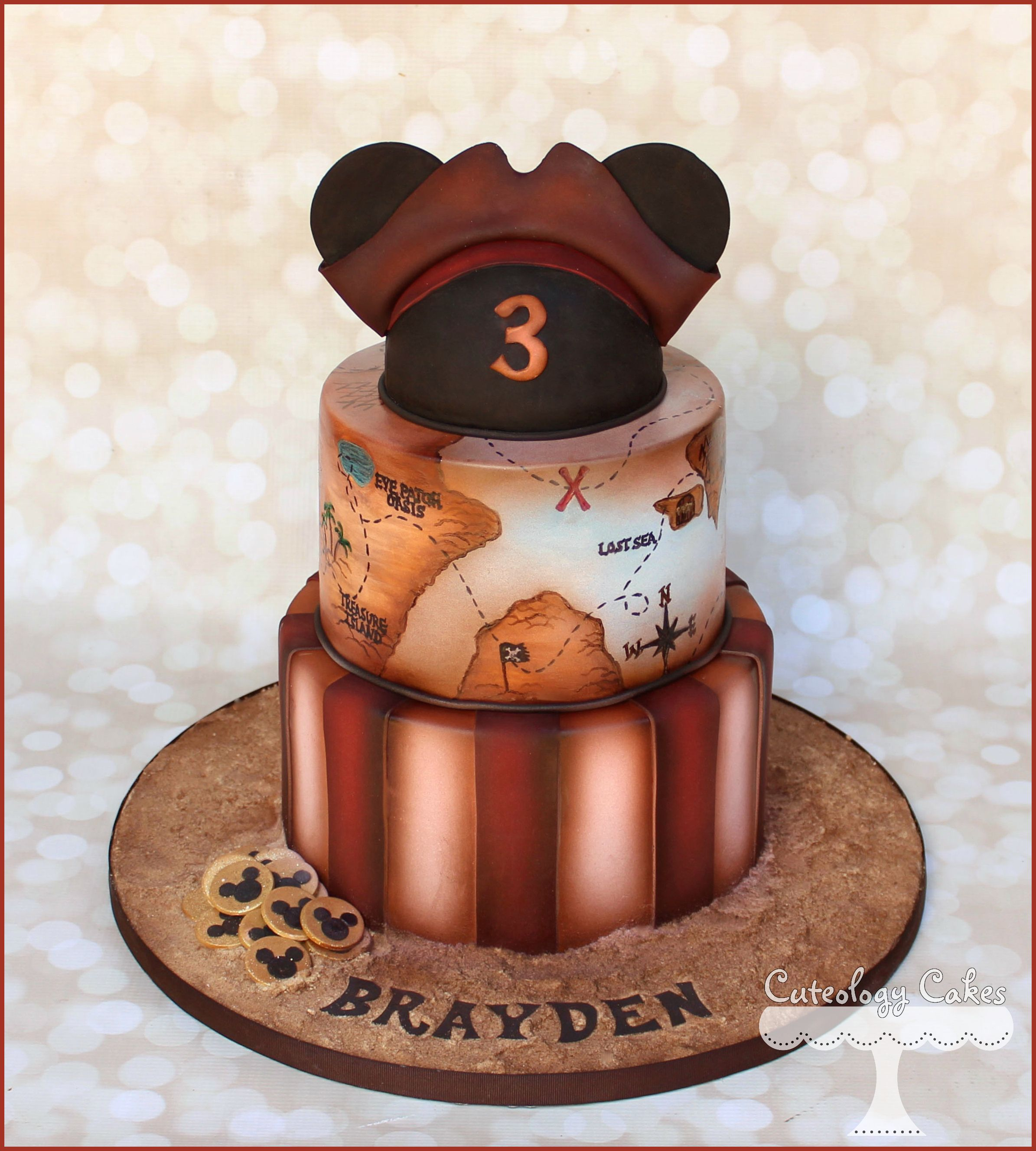 Pirate Mickey Mouse Cake With Treasure Map Facebook