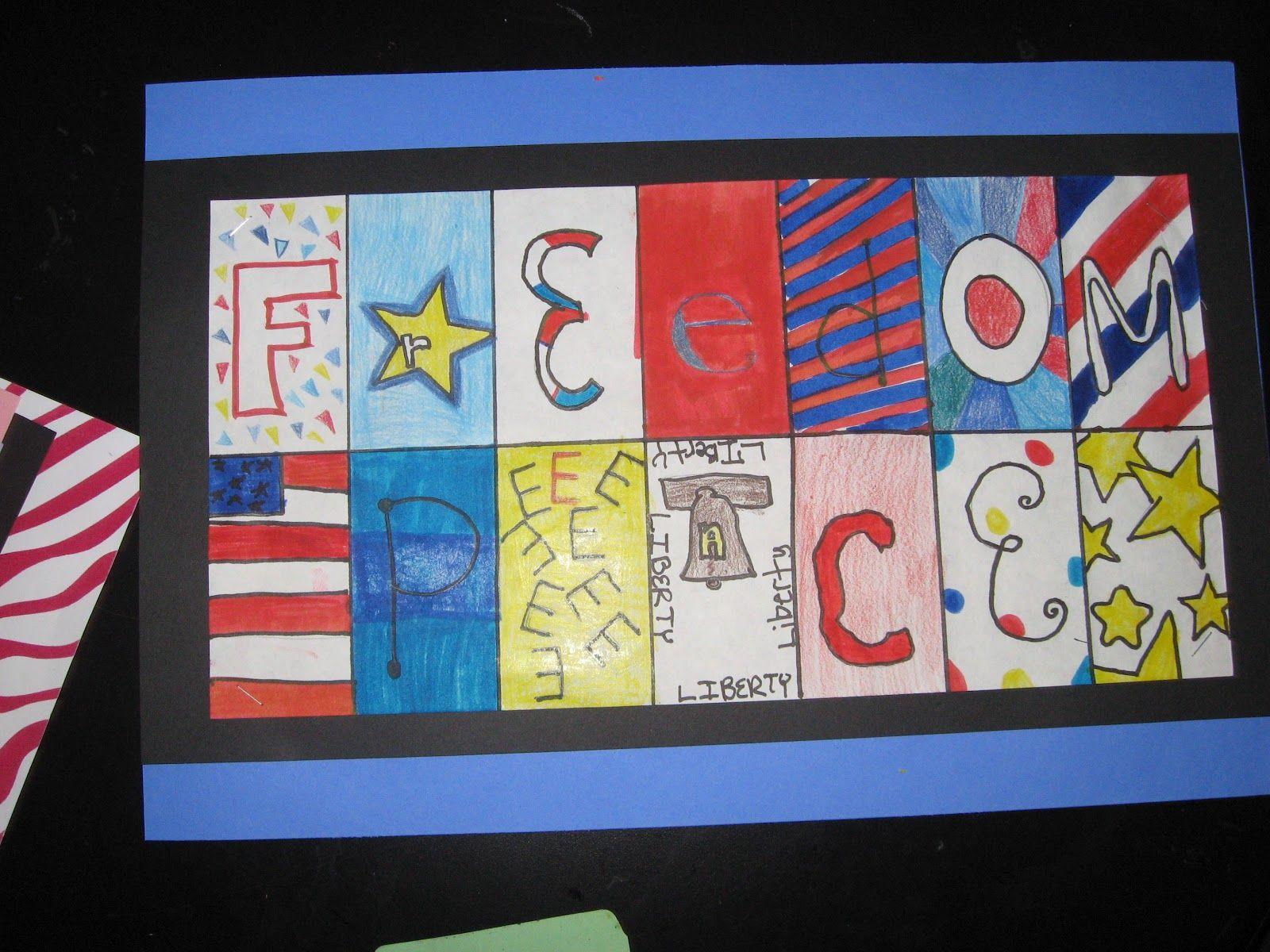 Patriotic Art And Graphic Design