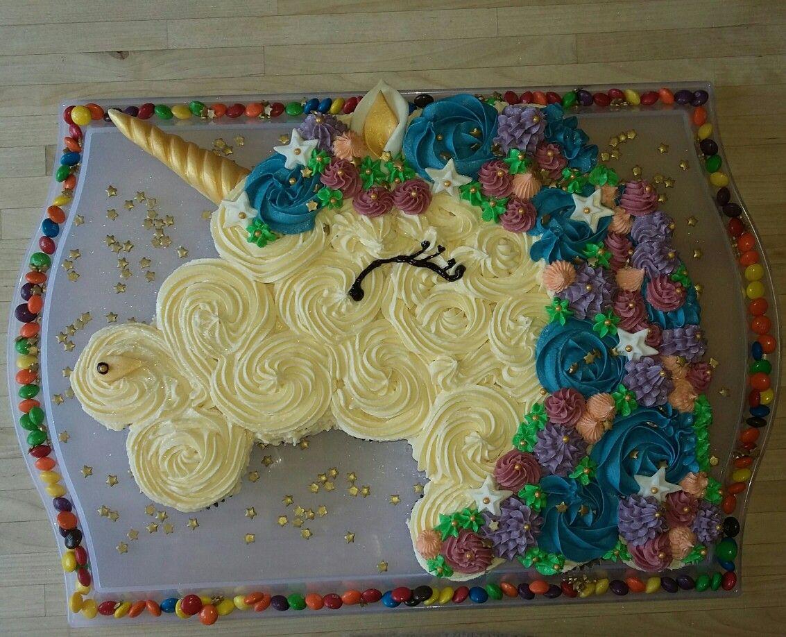 Unicorn Pull Apart Cupcake Birthday Cake
