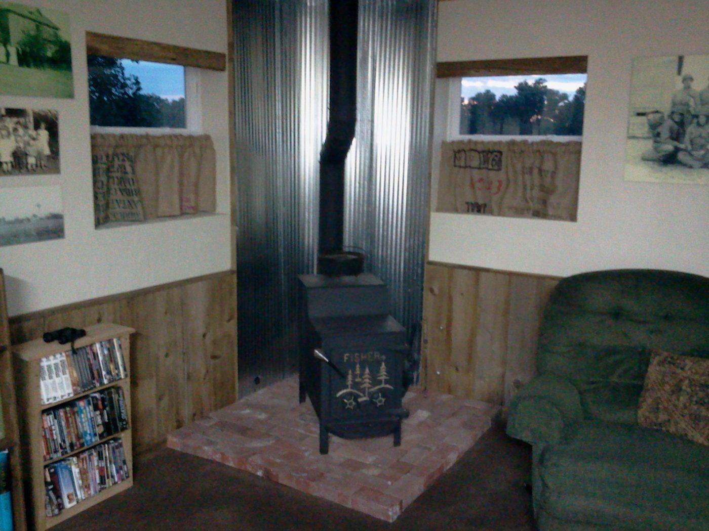 Wood Stove Heat Shield Google Search Fireplace Ideas