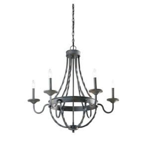 Hampton Bay Barcelona 6 Light Rustic Iron Chandelier Model Gty9116a 2 Internet