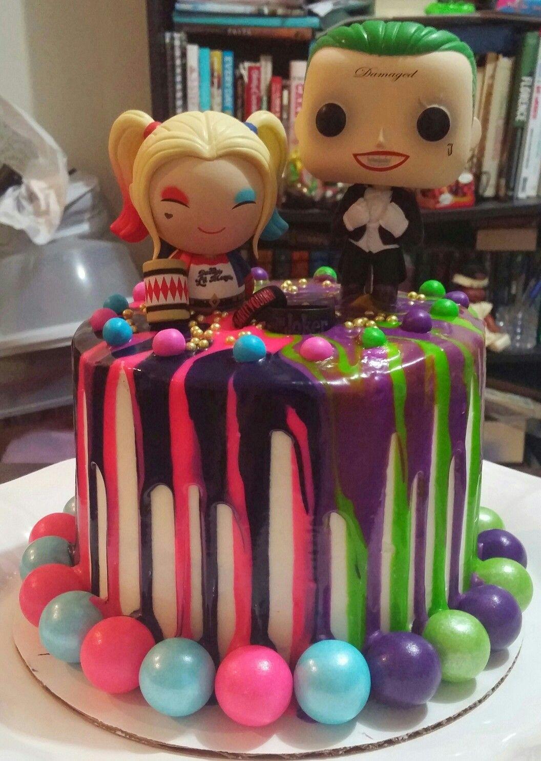 Harley Quinn Joker Drip Cake Happy 3rd Anniversary To My