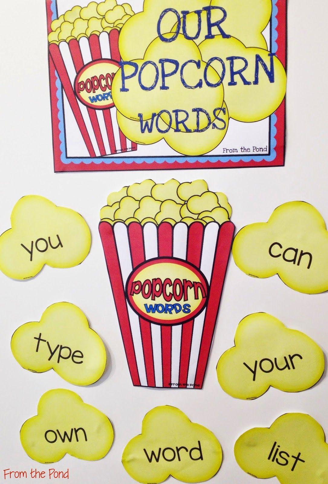 Editable Popcorn Word Wall