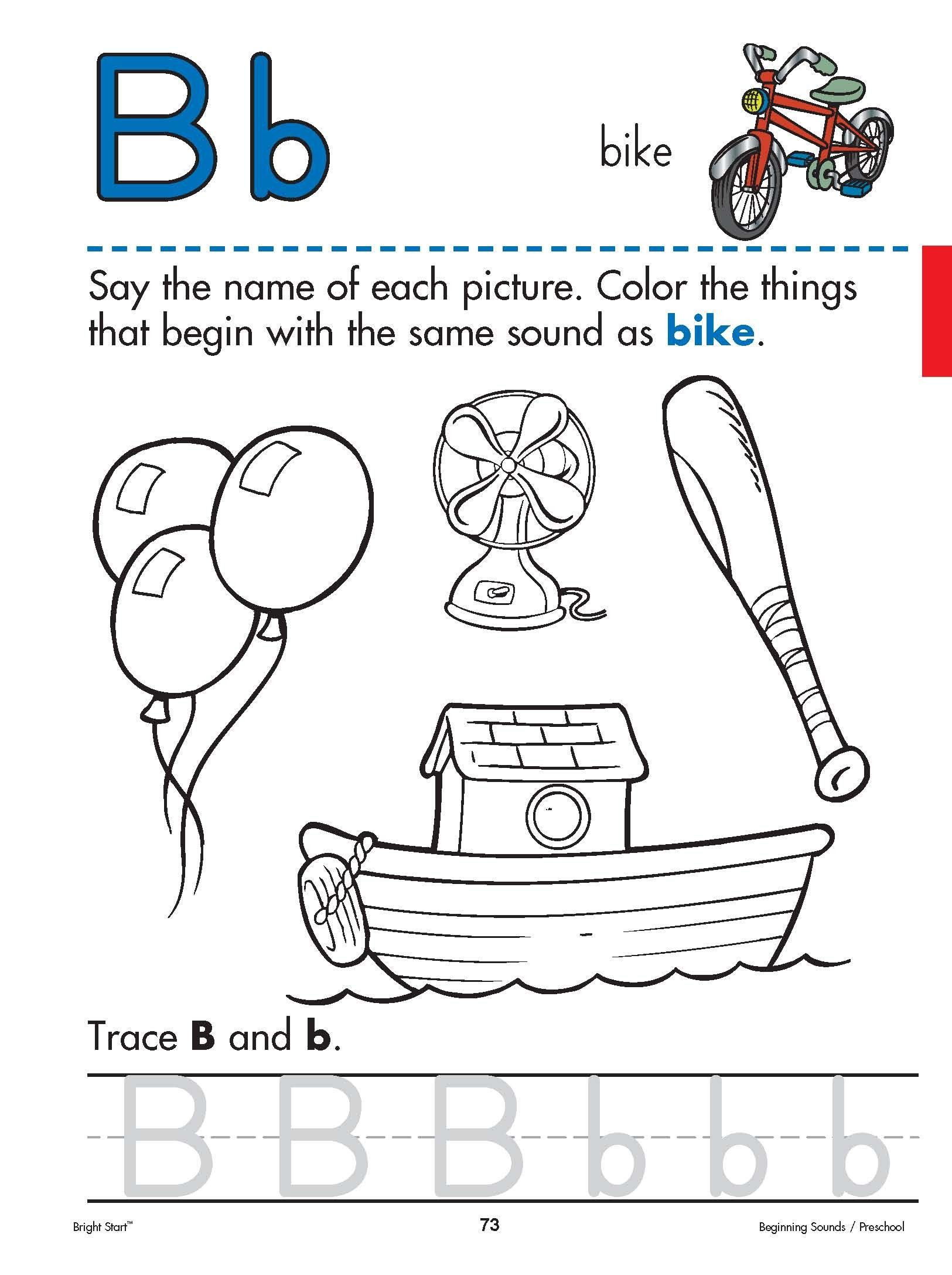 Print Trace And Color The Letter B Reinforce Your Preschool Child S Letter Recognition