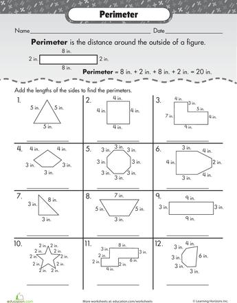 Best 25 Perimeter Worksheets Ideas