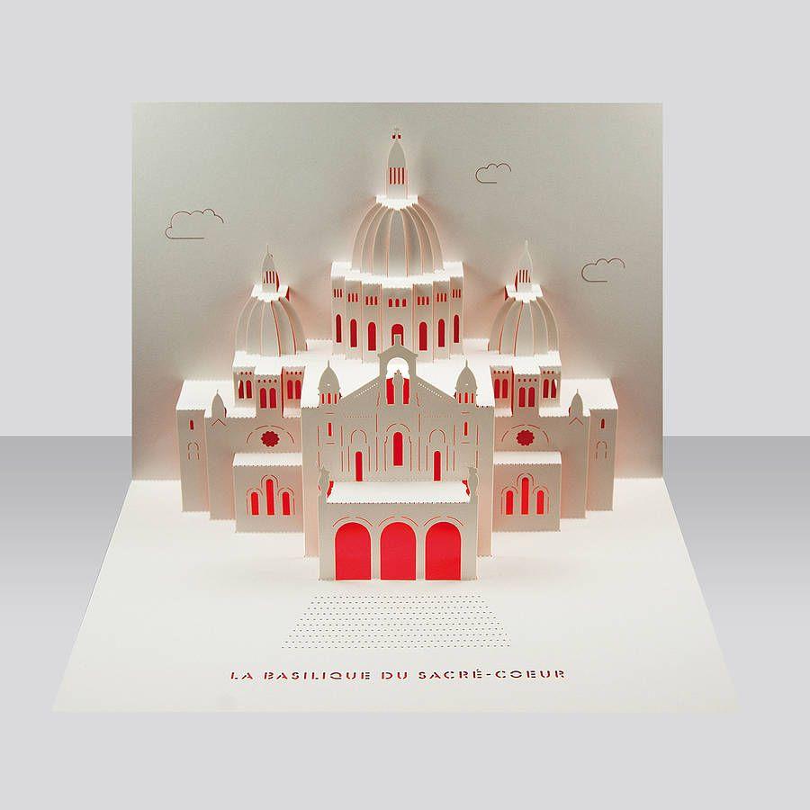 Sacre Coeur Paris Pop Up Card Kirigami Tutorial Diy