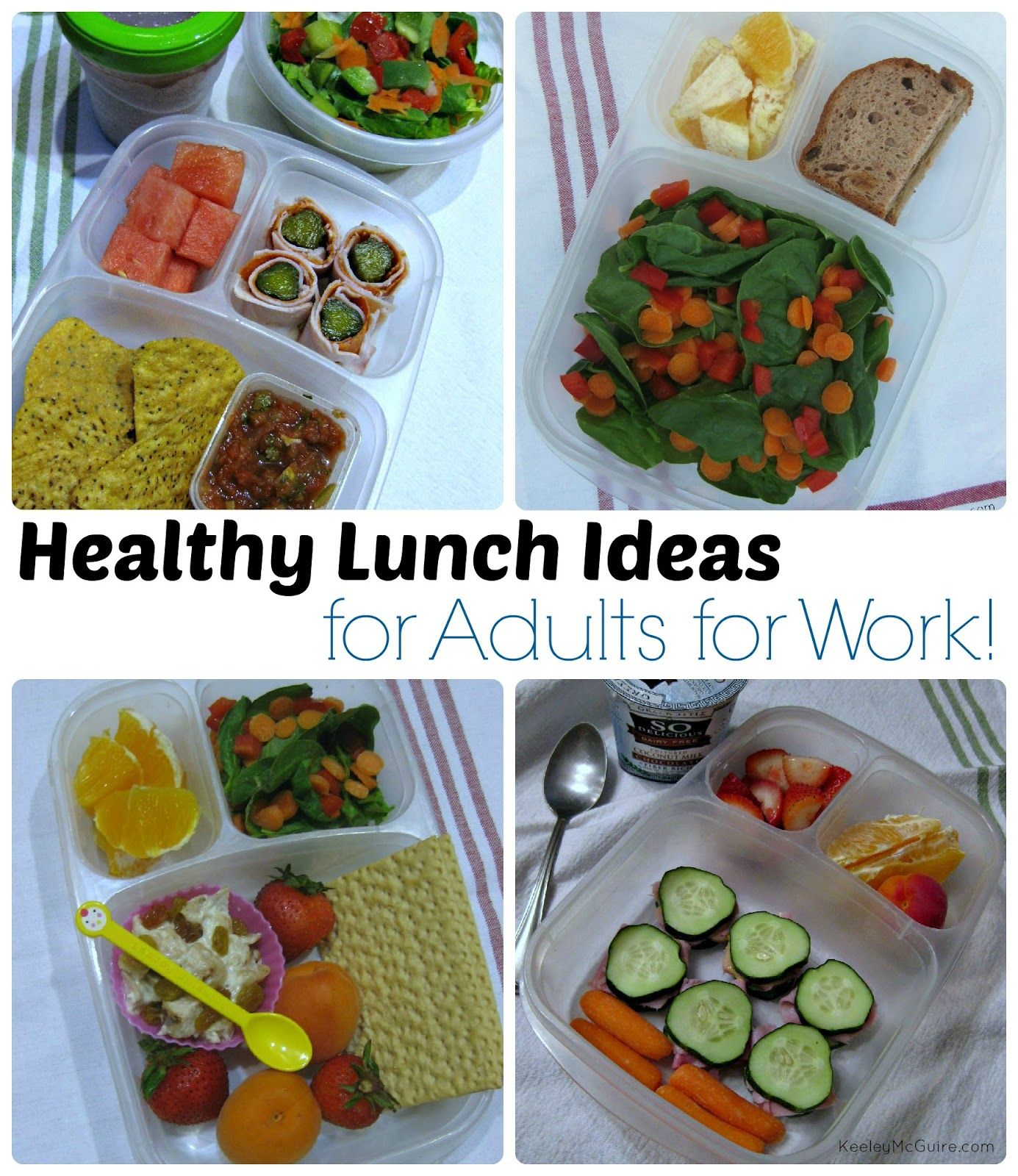 Healthy lunch ideas... for adults! Pack a healthy lunch to