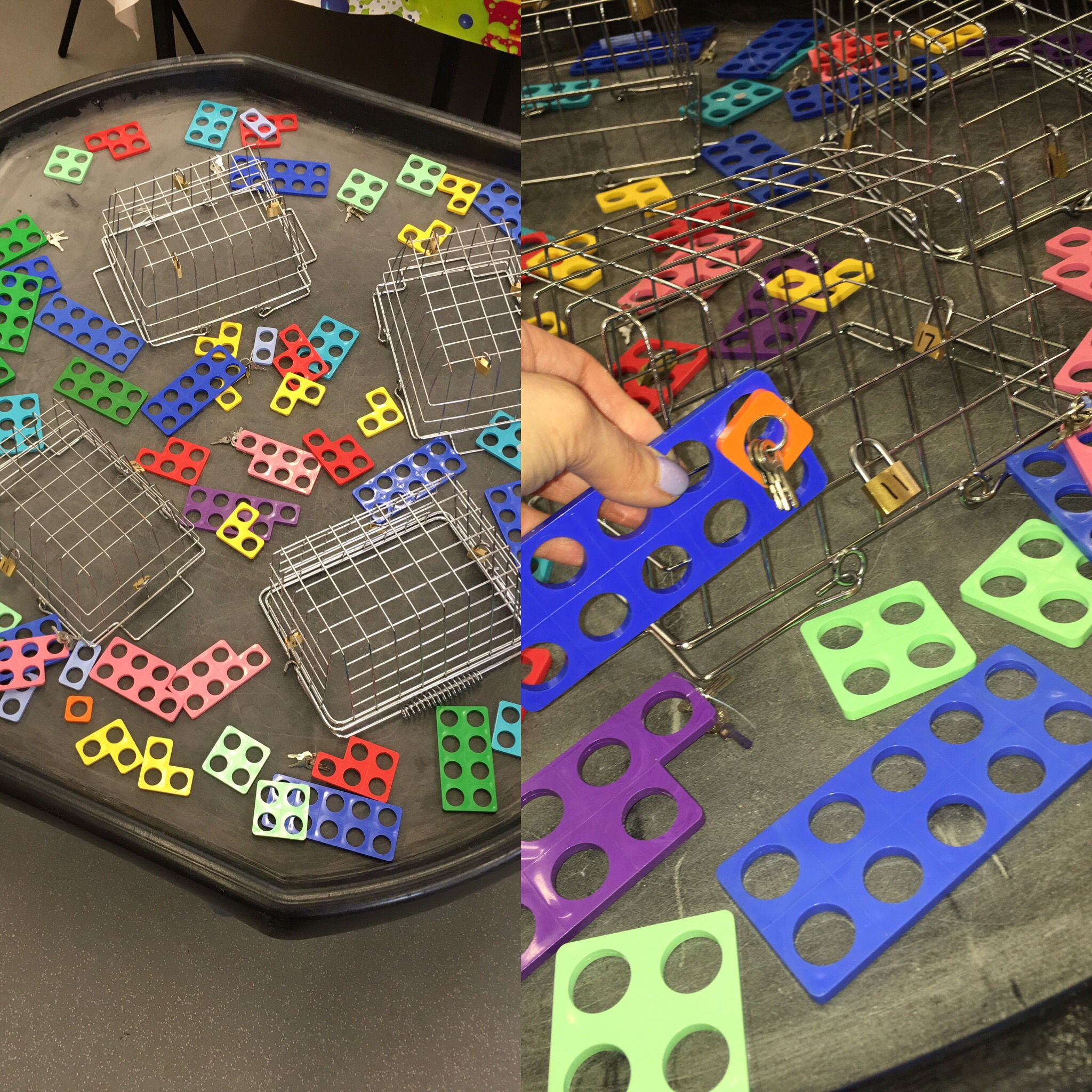 Locks And Keys With Numicon Children Have To First Of All