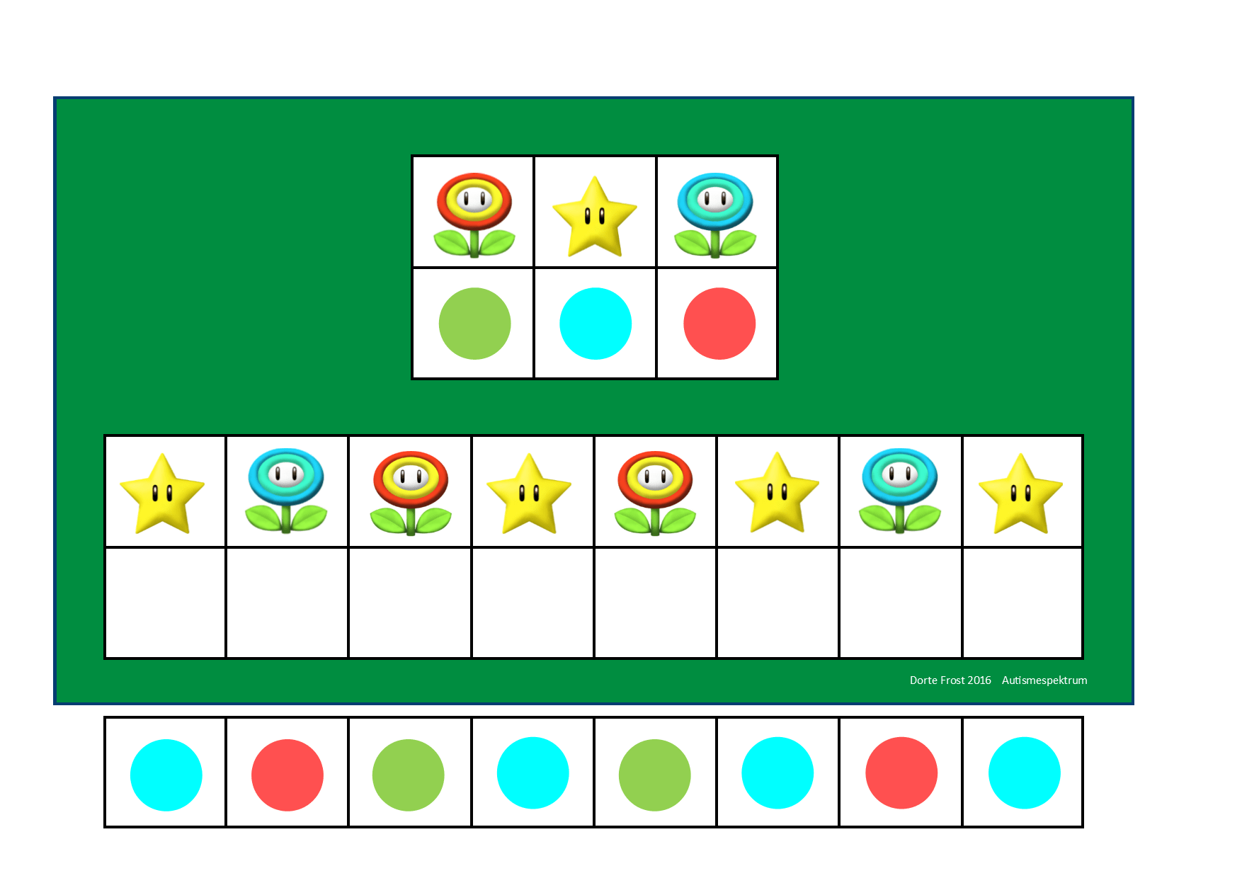 Board And Tiles For The Mario Visual Perception Game By