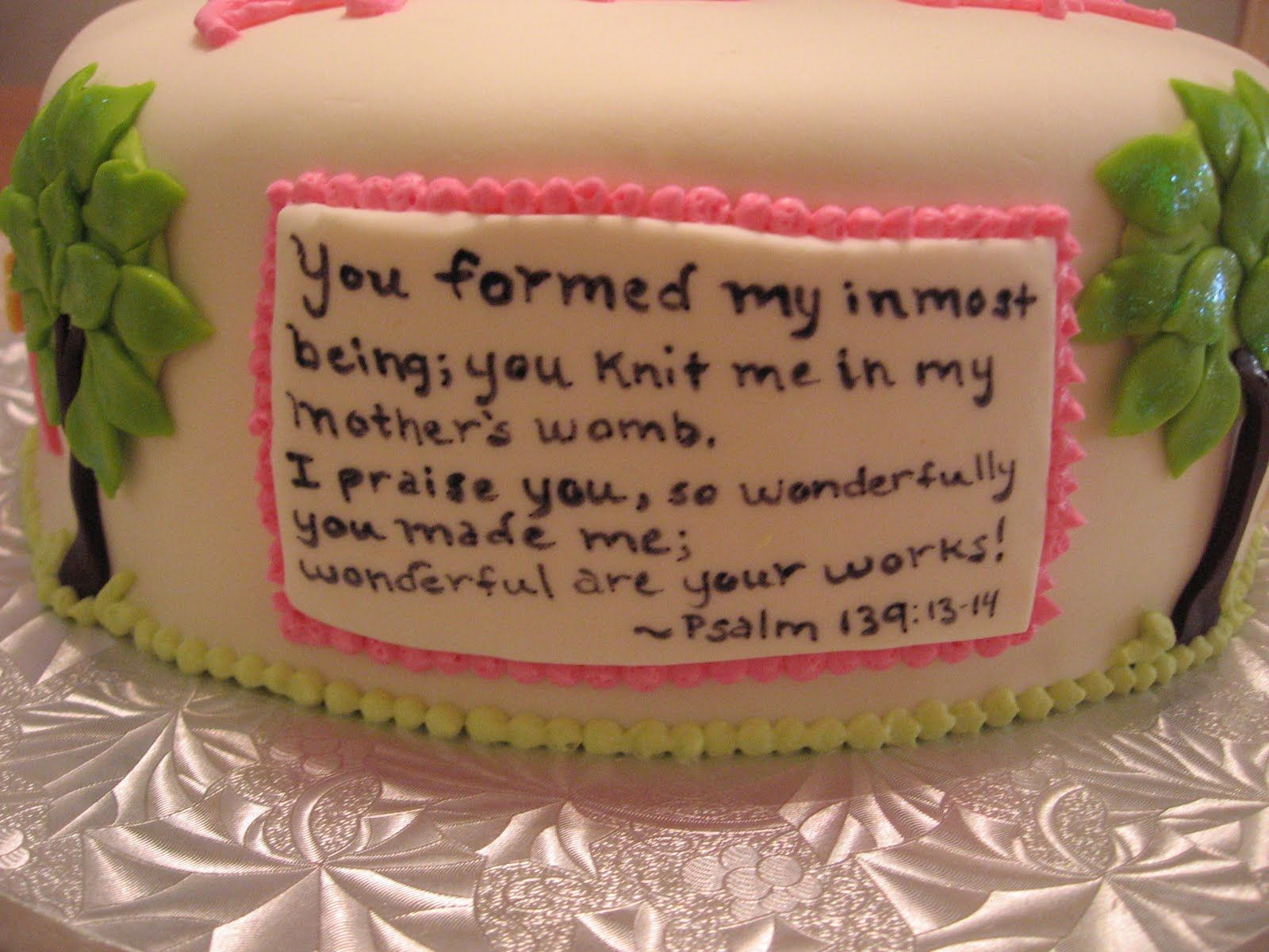 christian themed baby shower ideas Sweets Our Cakes