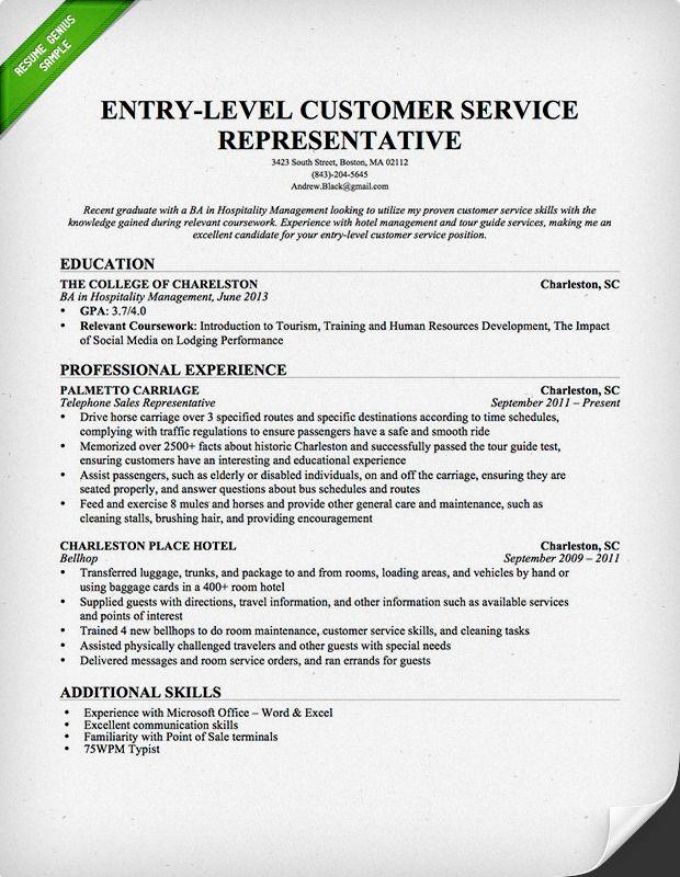 Resume Summary Example Entry Level. 10 Popular Resume Entry Level