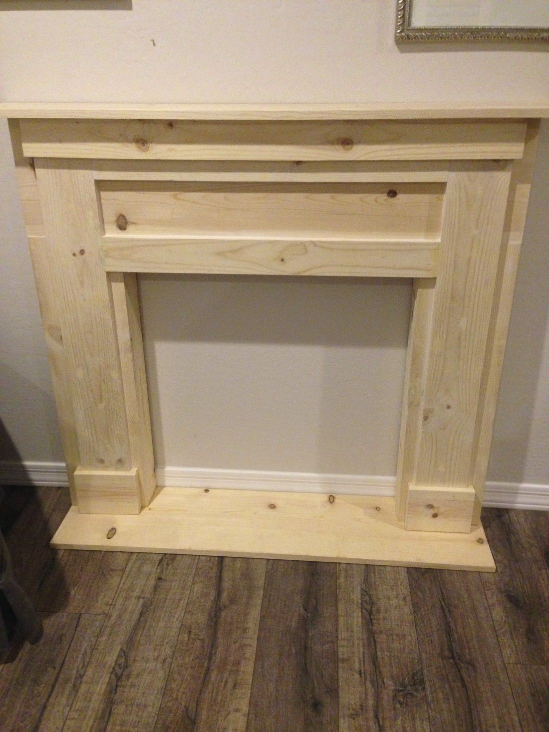 DIY Faux Fireplace & Mantel Faux fireplace, Pine and Easy