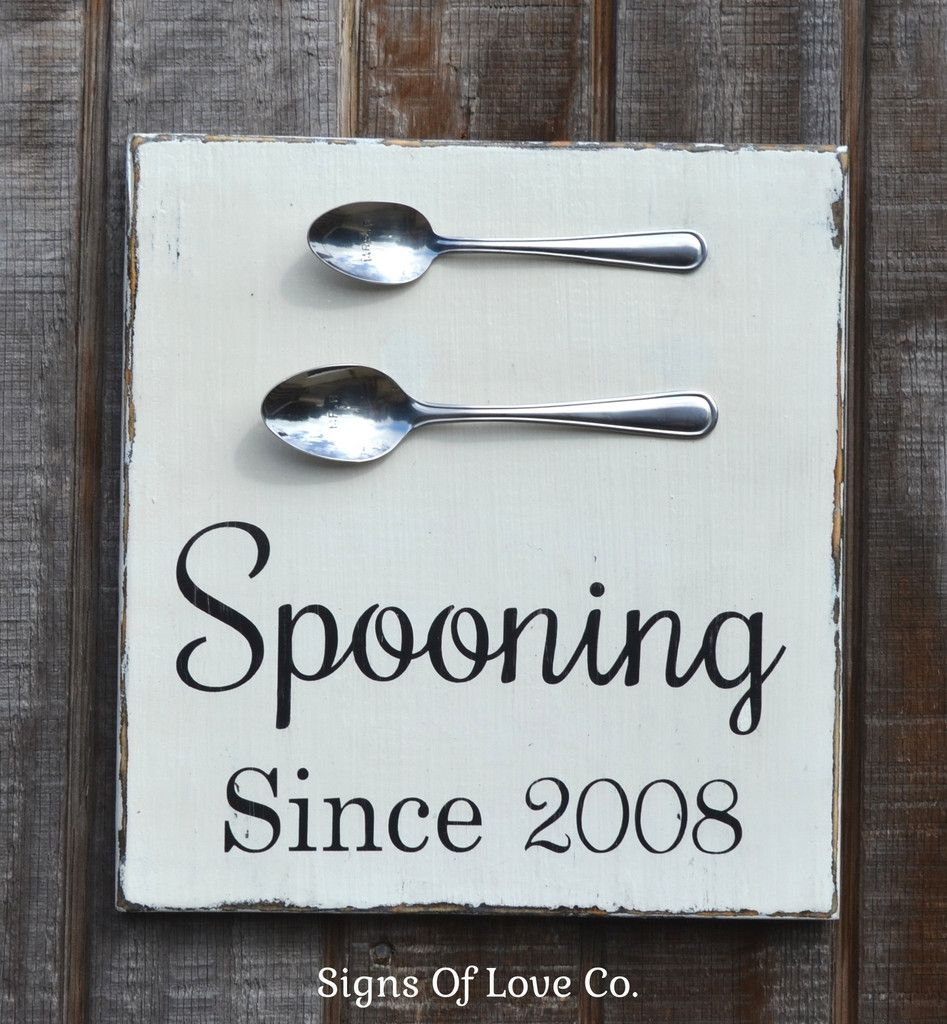 Spooning Since Couples Home Decor Wedding Sign Kitchen
