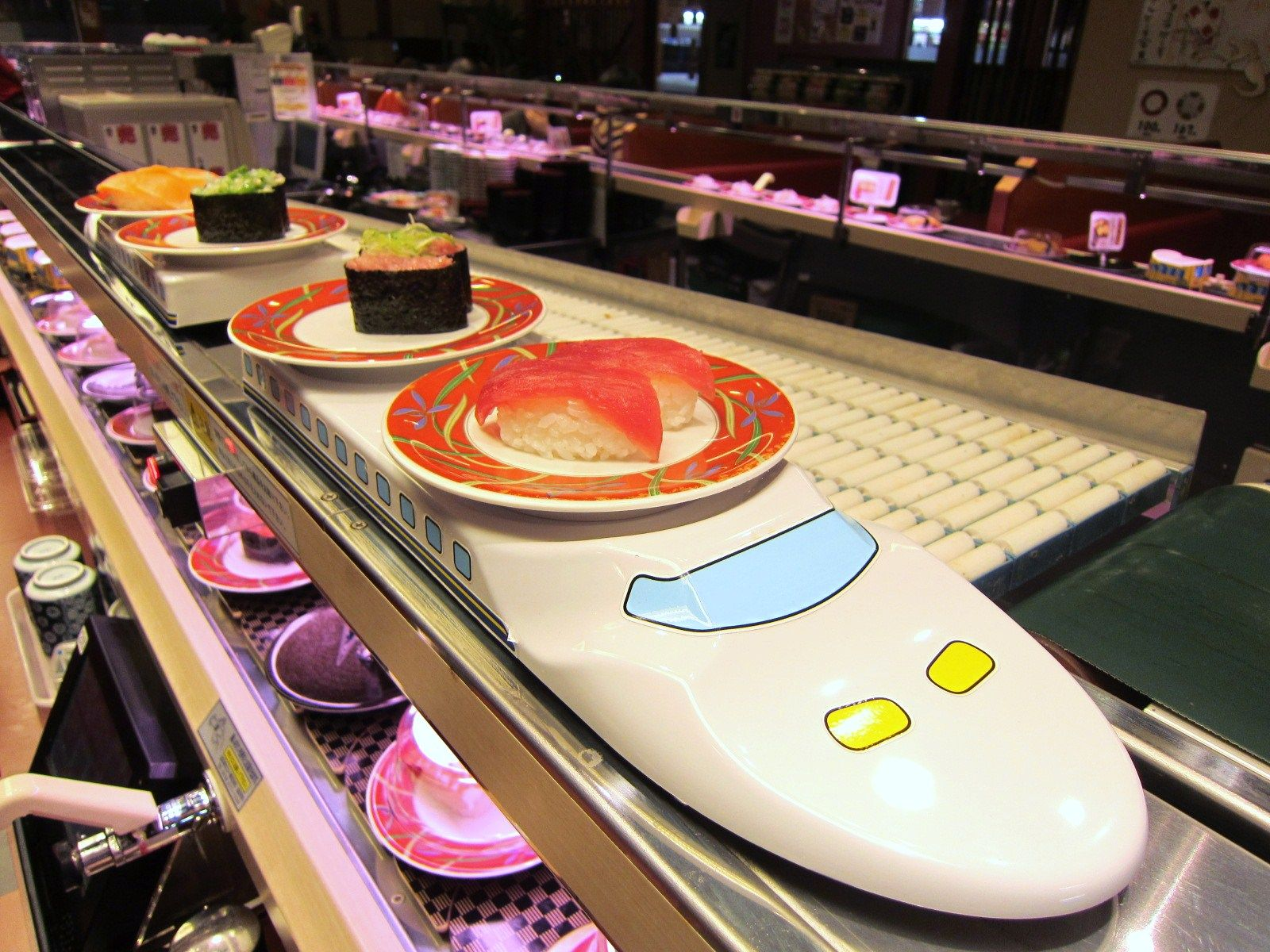 To Try Premium Sushi Train Kai. First I seen in Okinawa