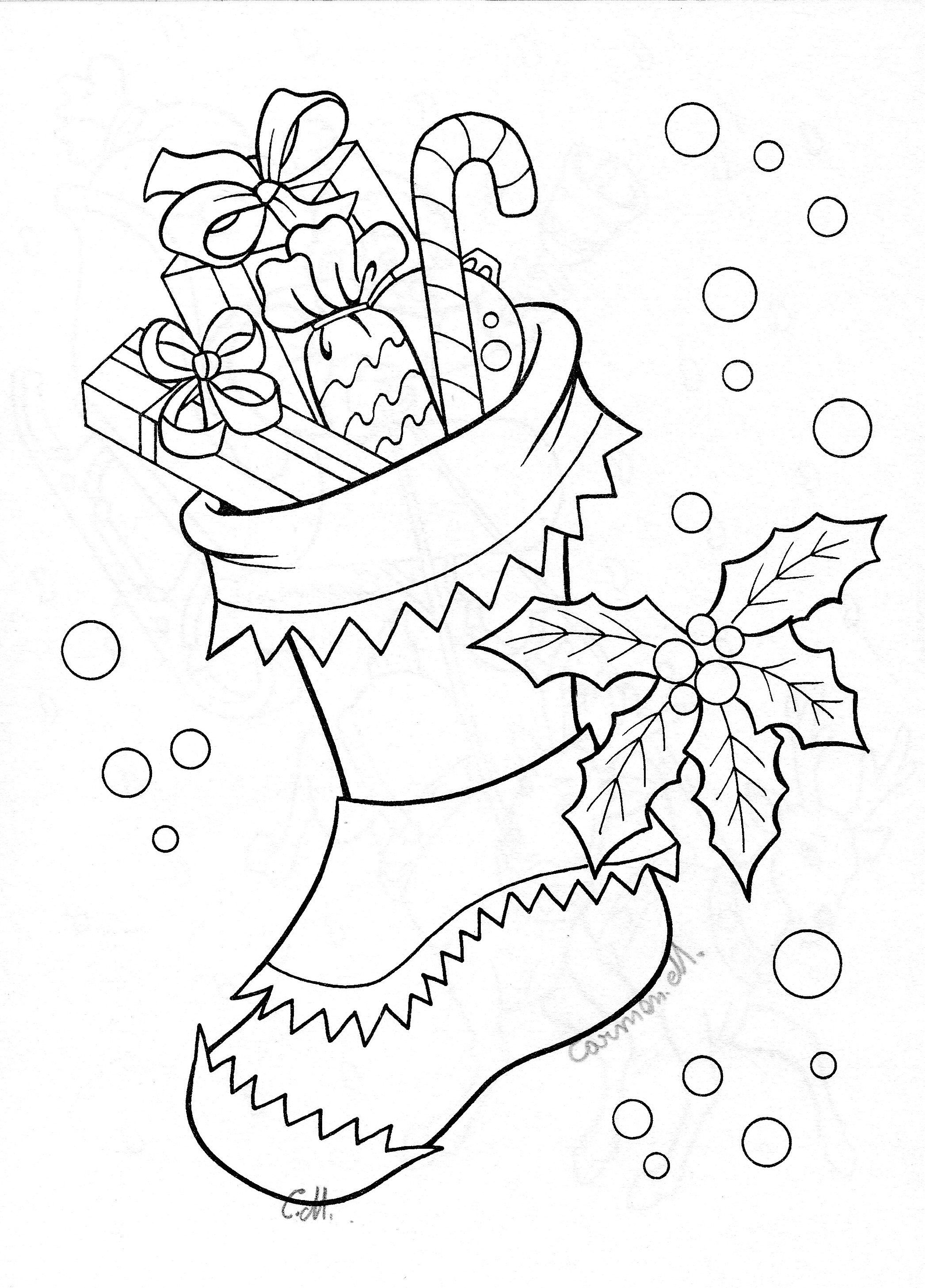 Christmas Stocking Drawing Art Pinterest Christmas
