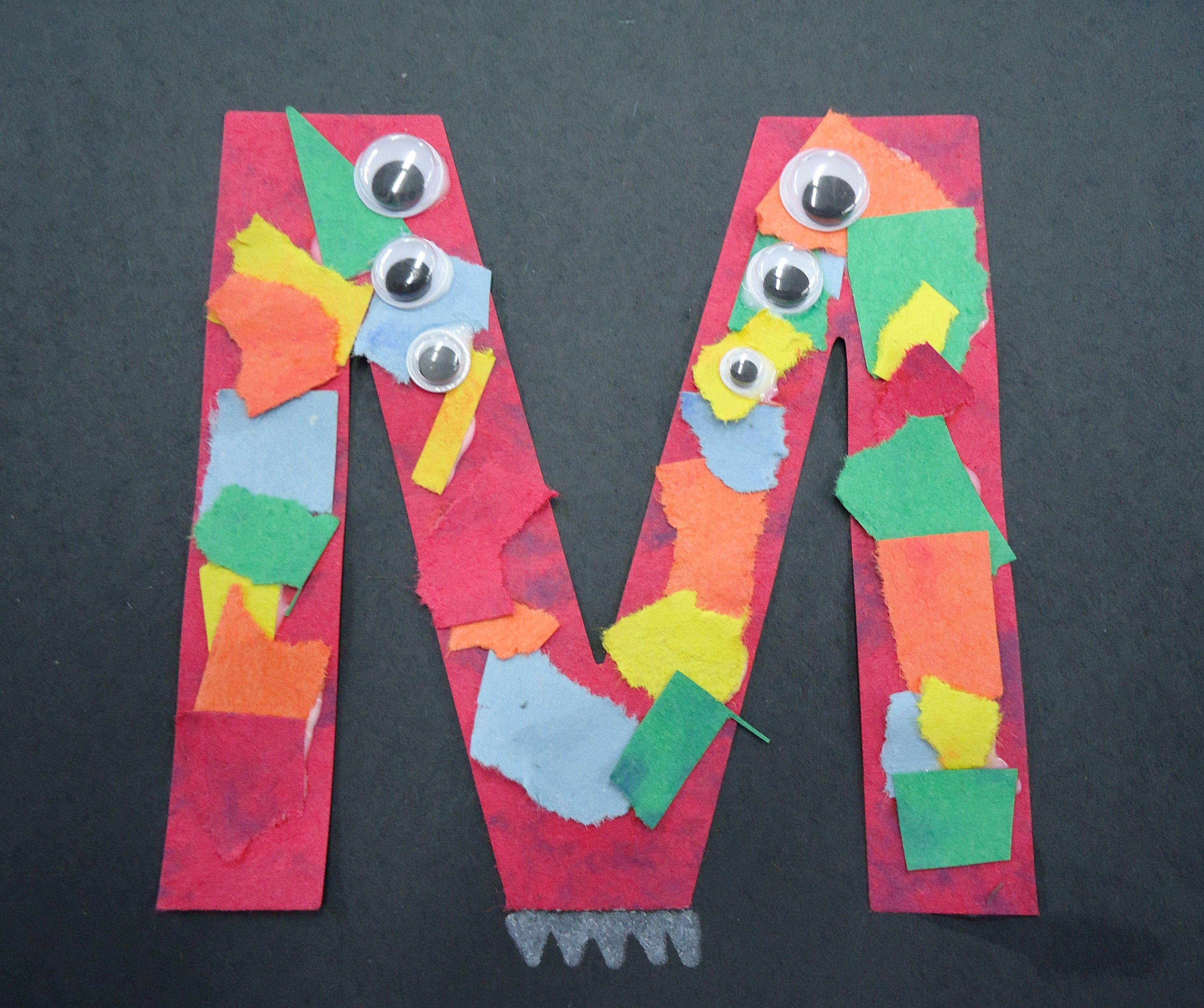 The Letter M Preschool Activity Monster M S