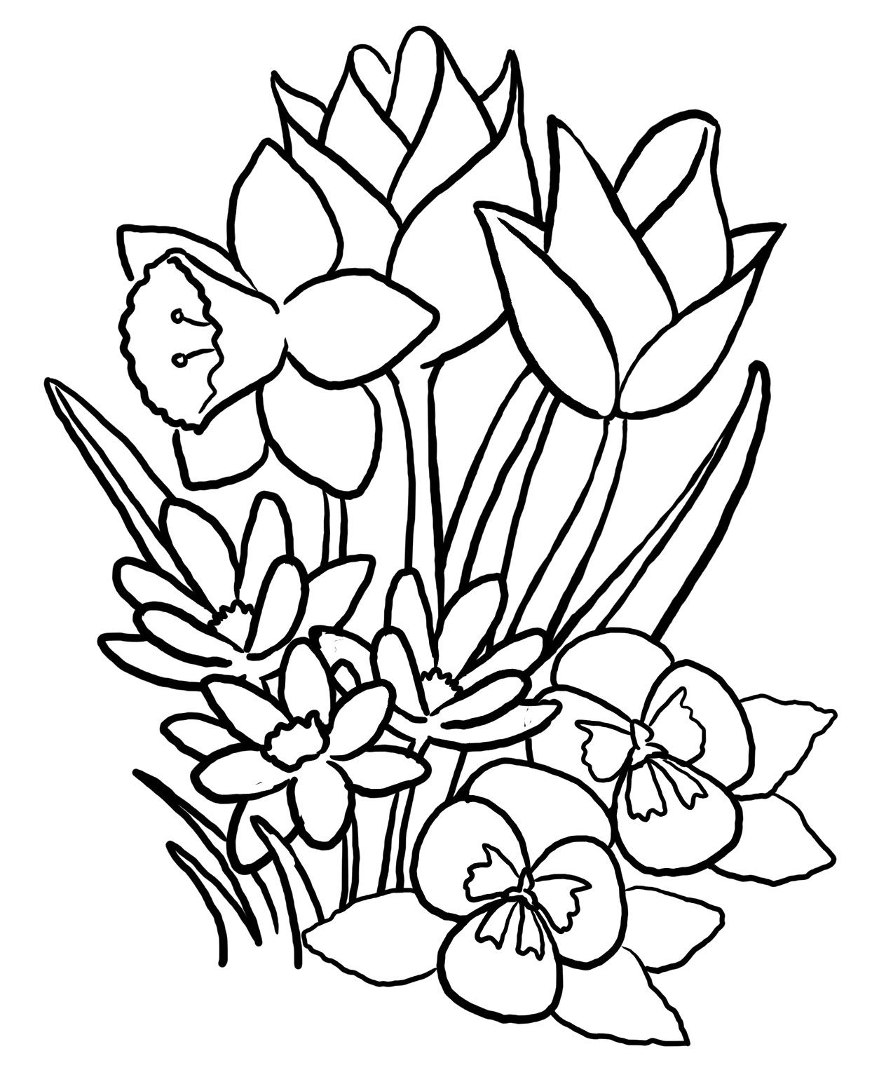 Spring Coloring Pages Printable Spring Coloring Pages