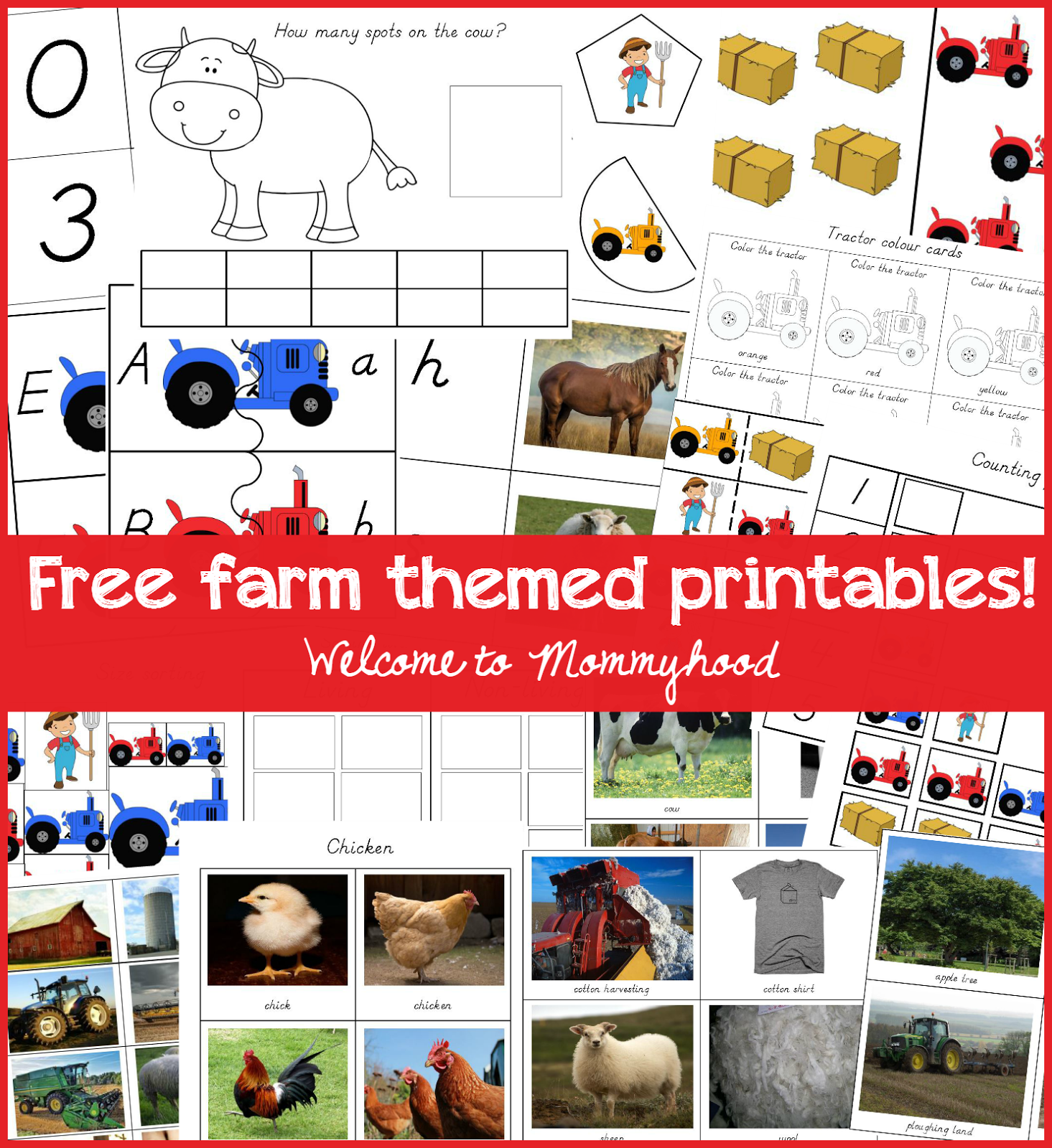 Free Farm Themed Printables For Preschoolers And Toddlers By Welcome To Mommyhood