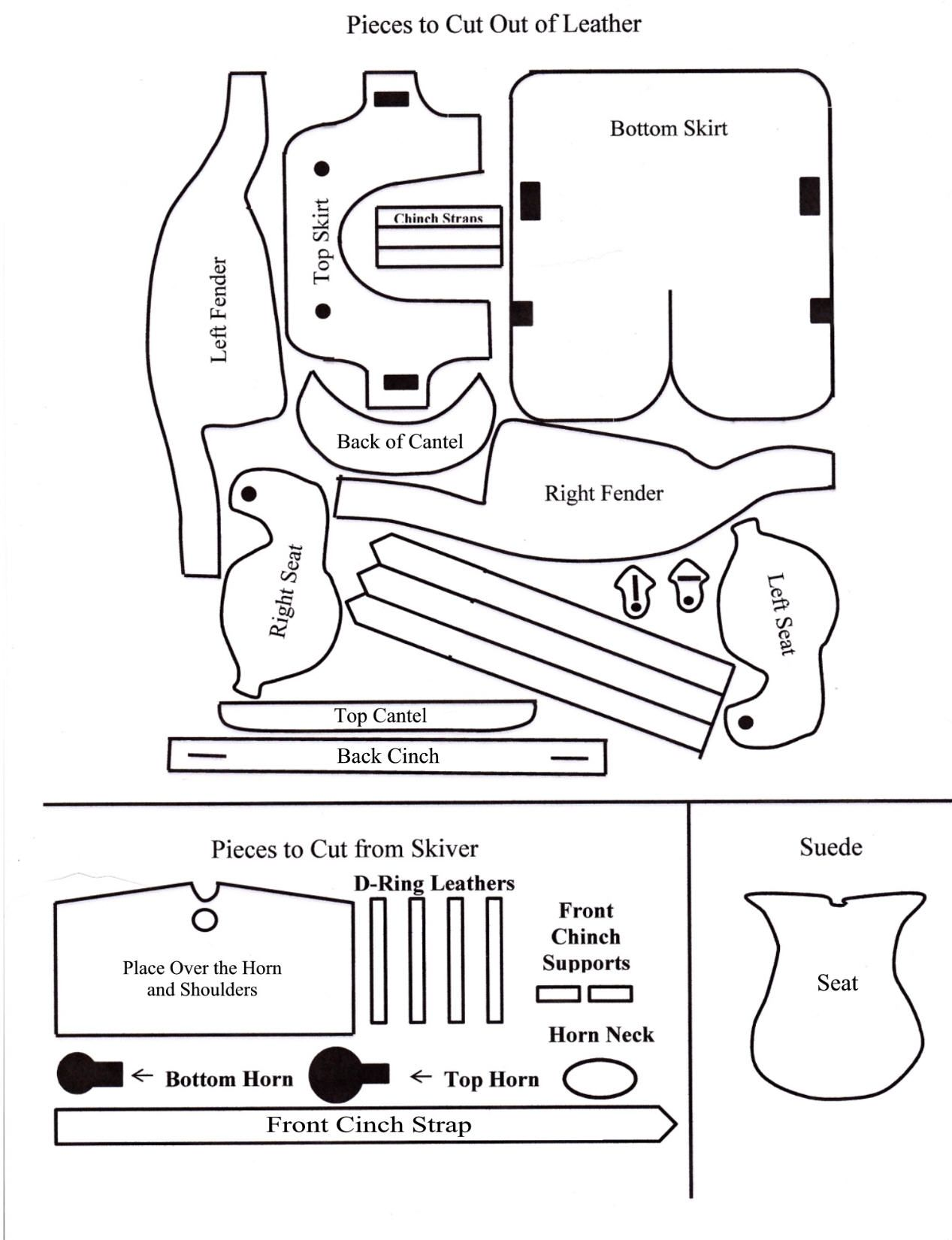 Western Pleasure Saddle Pattern