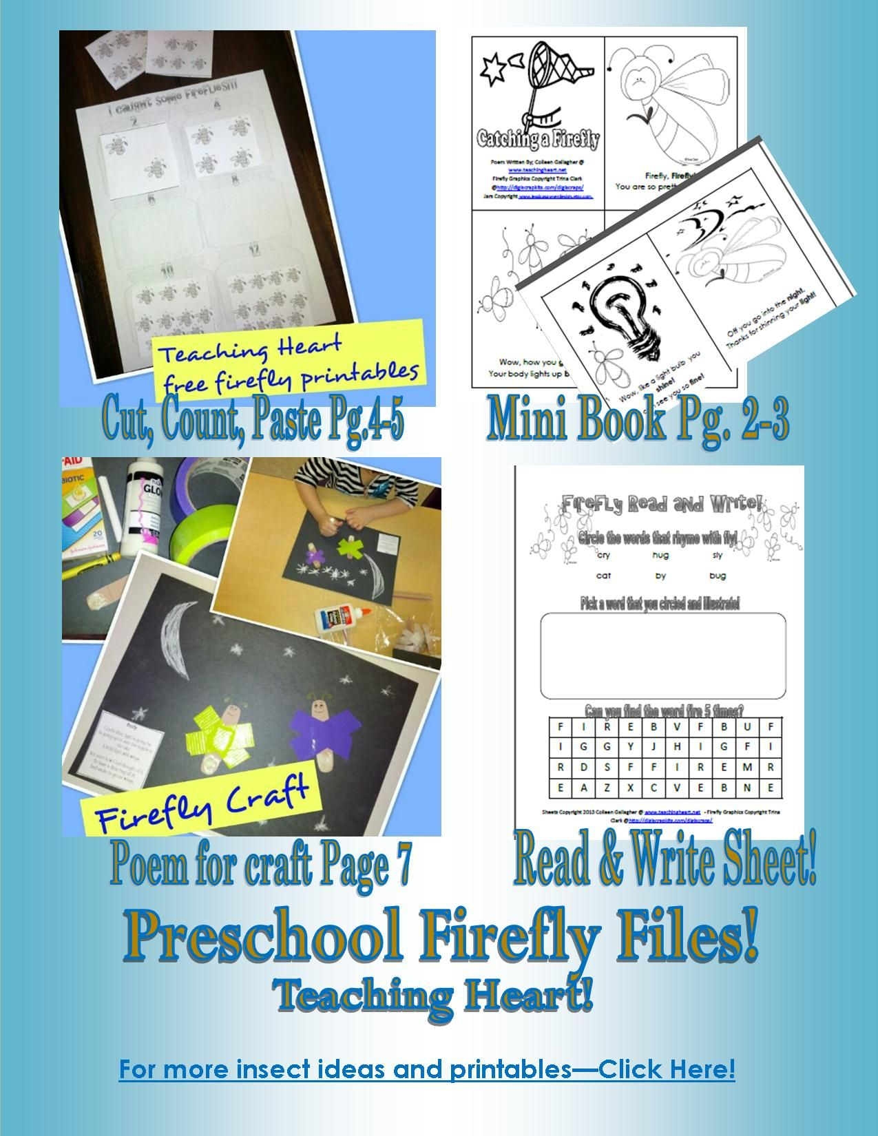 Bug Theme Preschool Worksheet