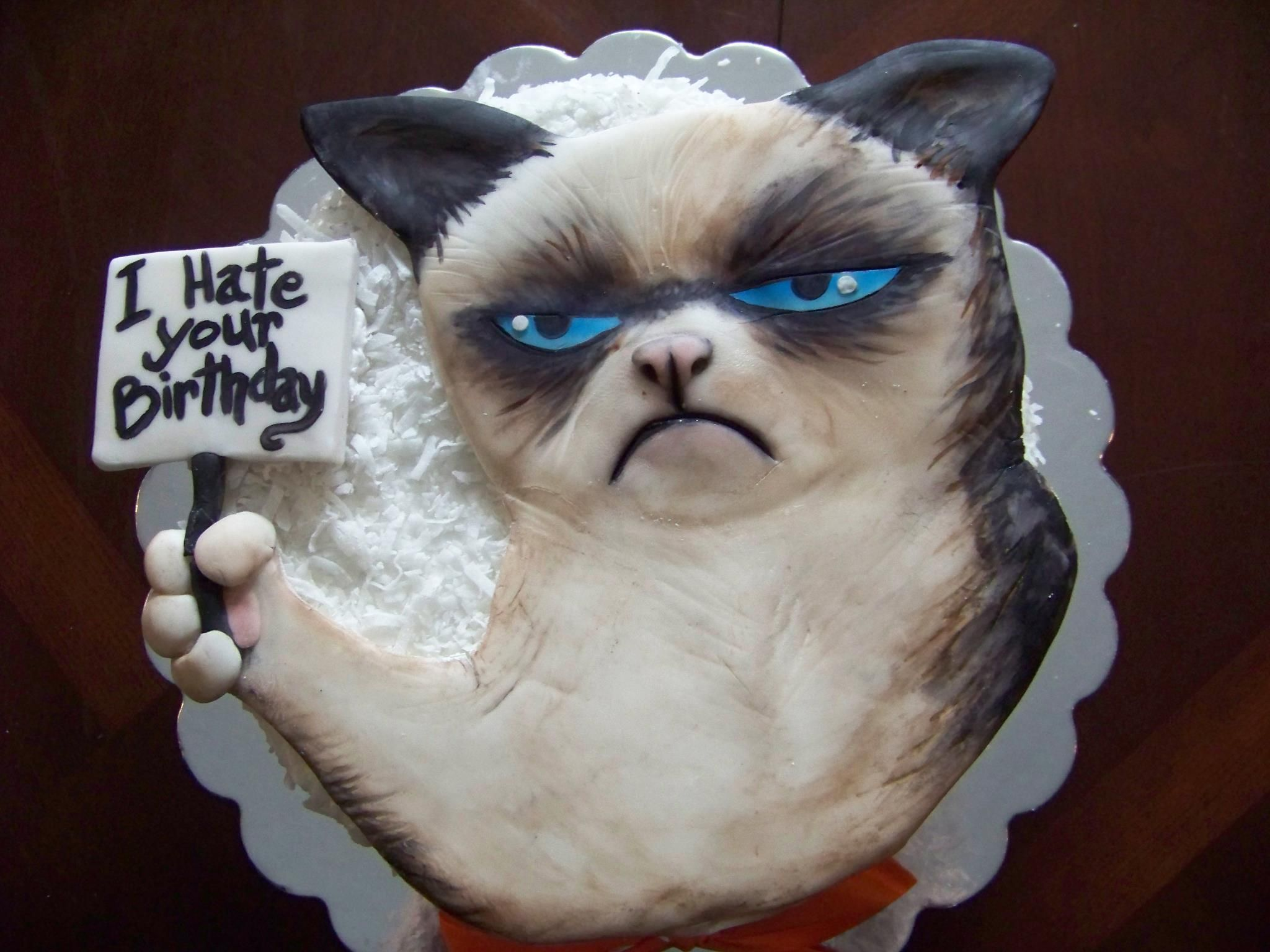 Grumpy Cat Birthday Cake Grumpycat Cake For More Grumpy