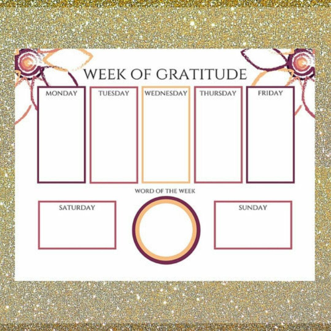 Week Of Gratitude