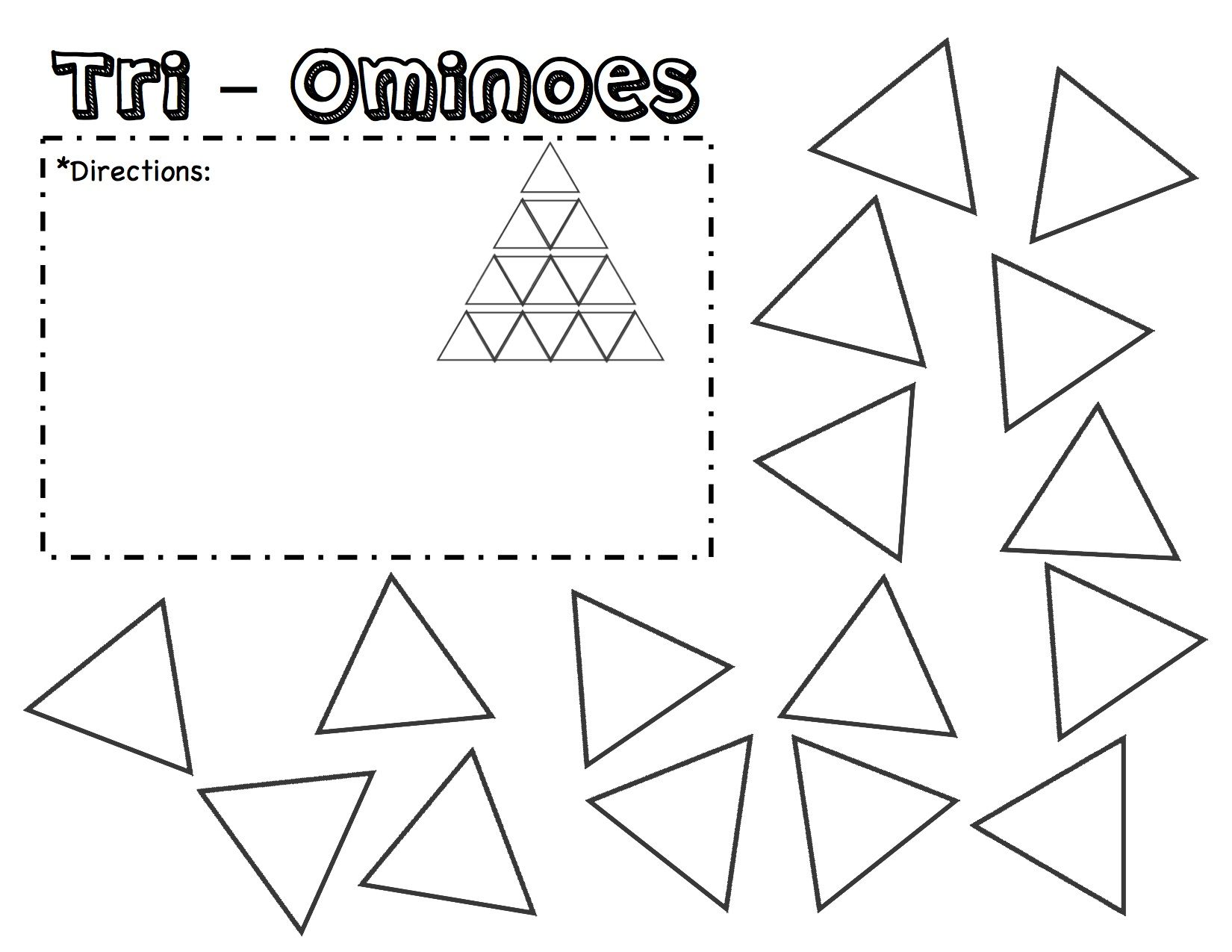 Tri Ominoes Puzzle Template Printable Fill In The