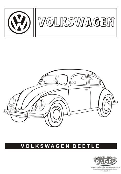 classic vw beetle coloring page remember herbie in quot the love bug