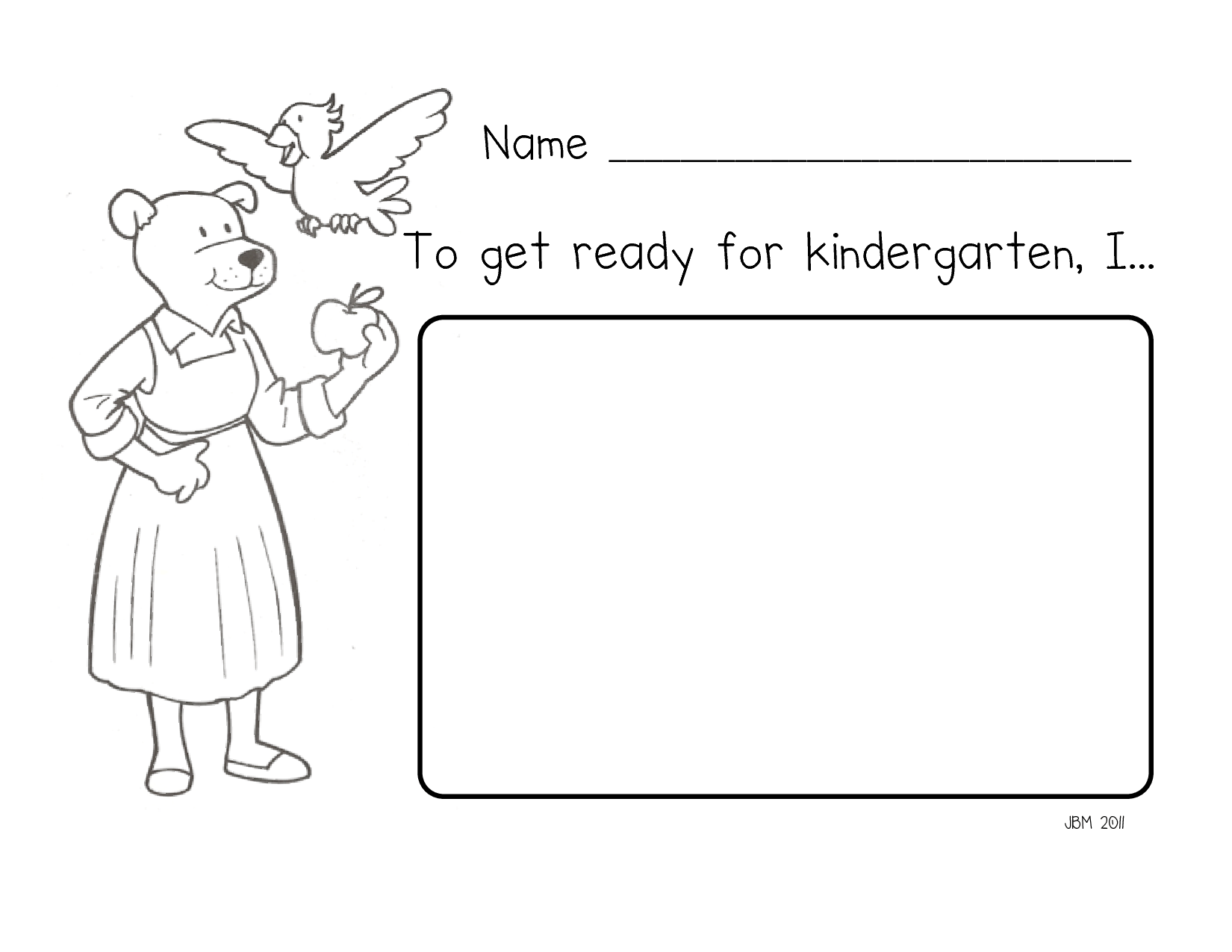 Miss Bindergarten Coloring Pages