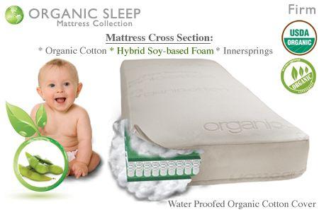 Babies Organic Foam Spring Crib Mattress Firm