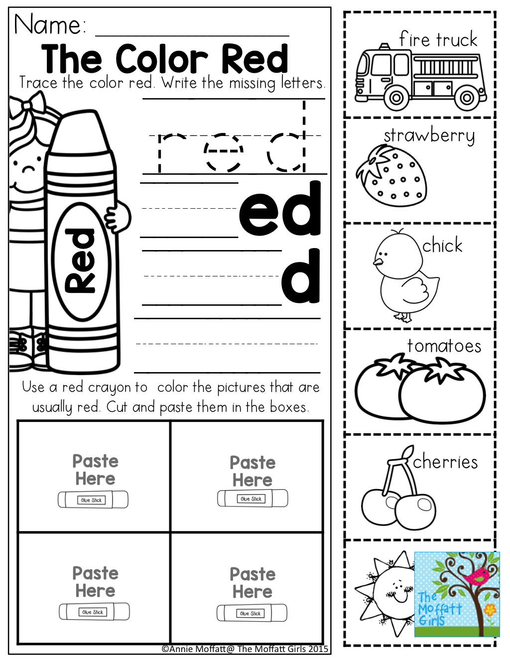 Color Word Practice And Tons Of Other Printable For Preschool To 3rd Grade